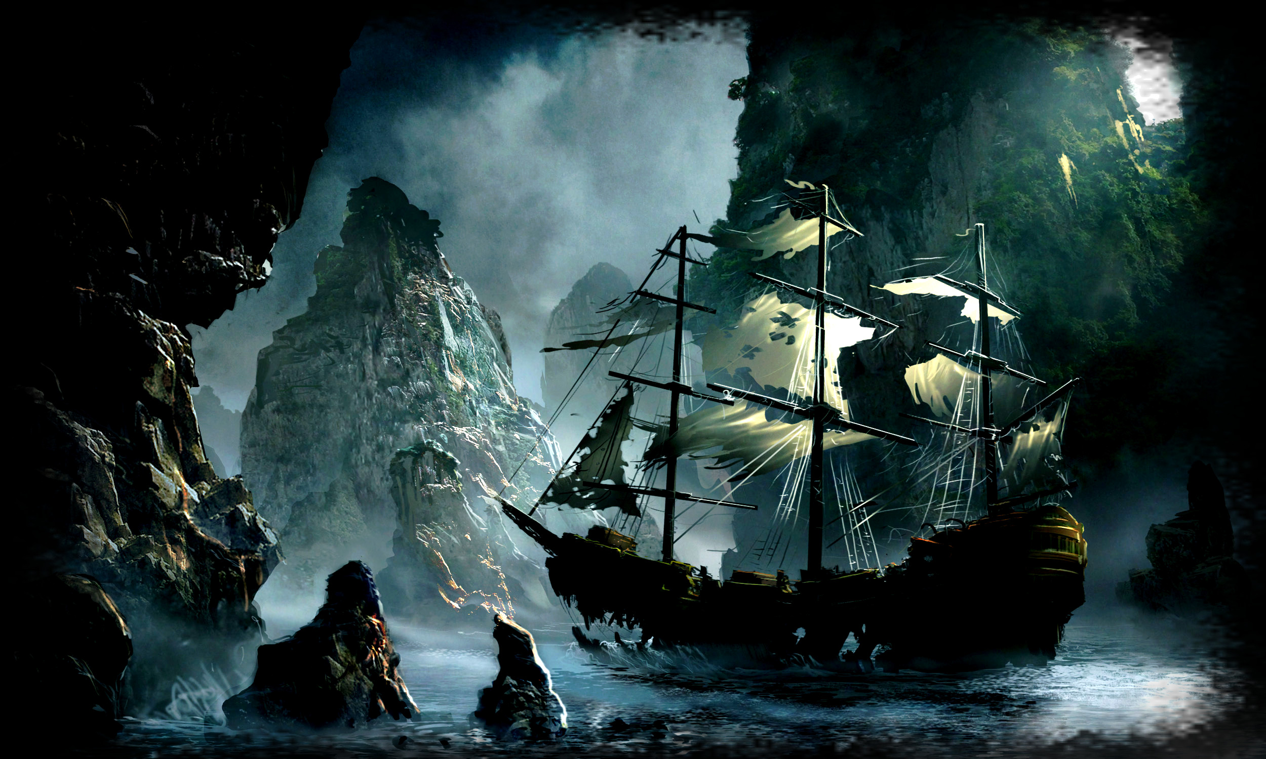 Pirate ship wallpaper hd 71 images - Pirate background ...