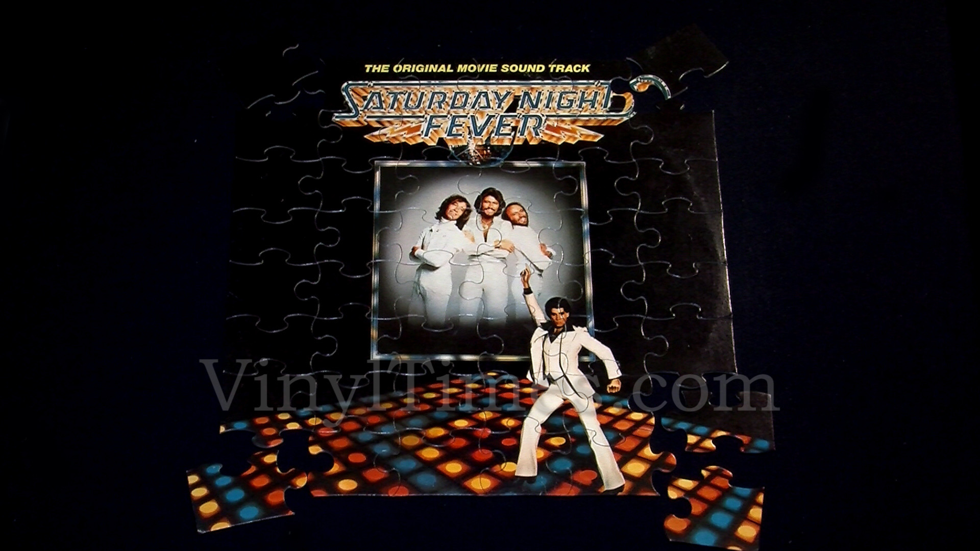 "1920x1080 Soundtrack ""Saturday Night Fever"" Album Cover Jigsaw Puzzle front"