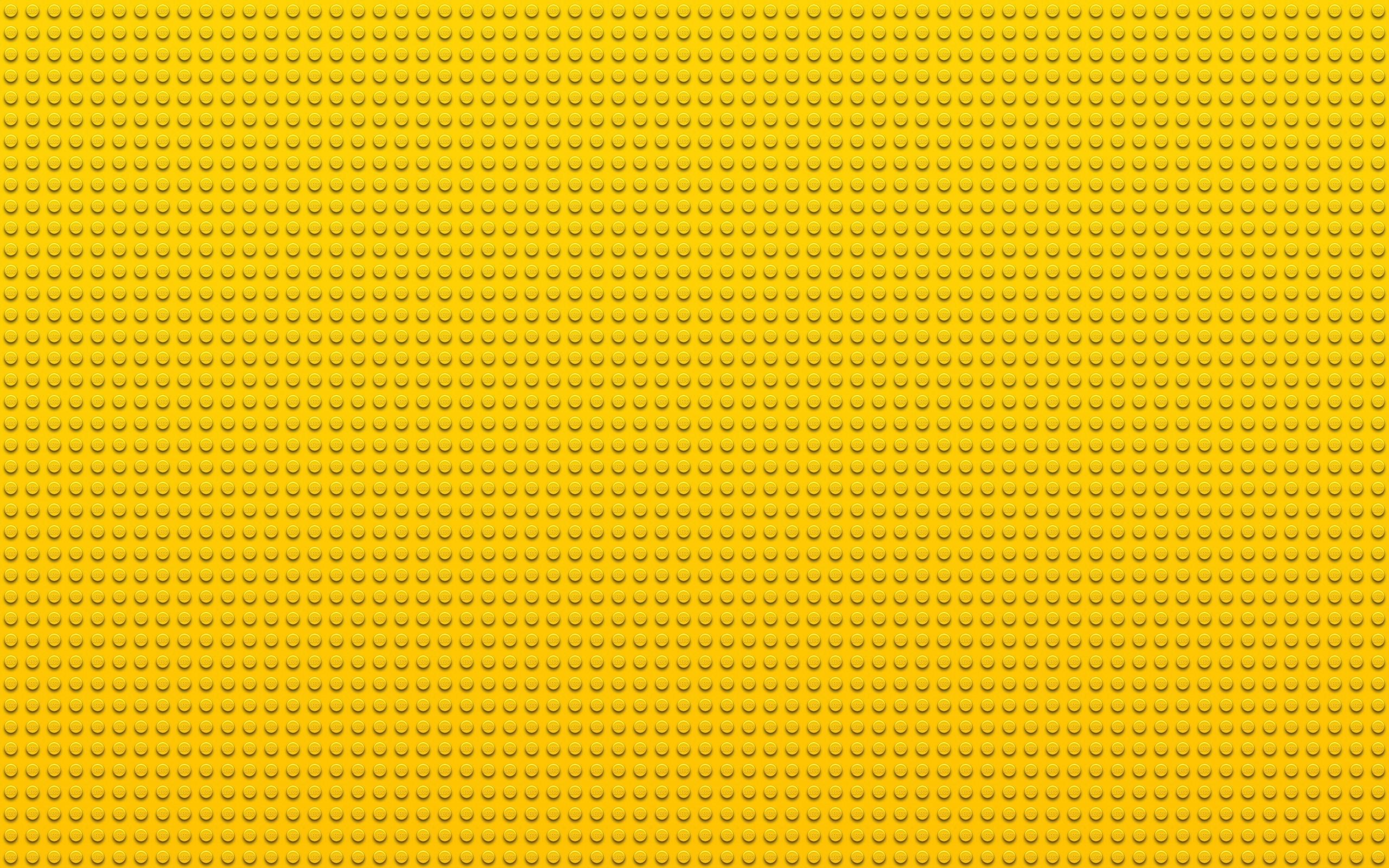 2560x1600  Wallpaper lego, points, circles, yellow