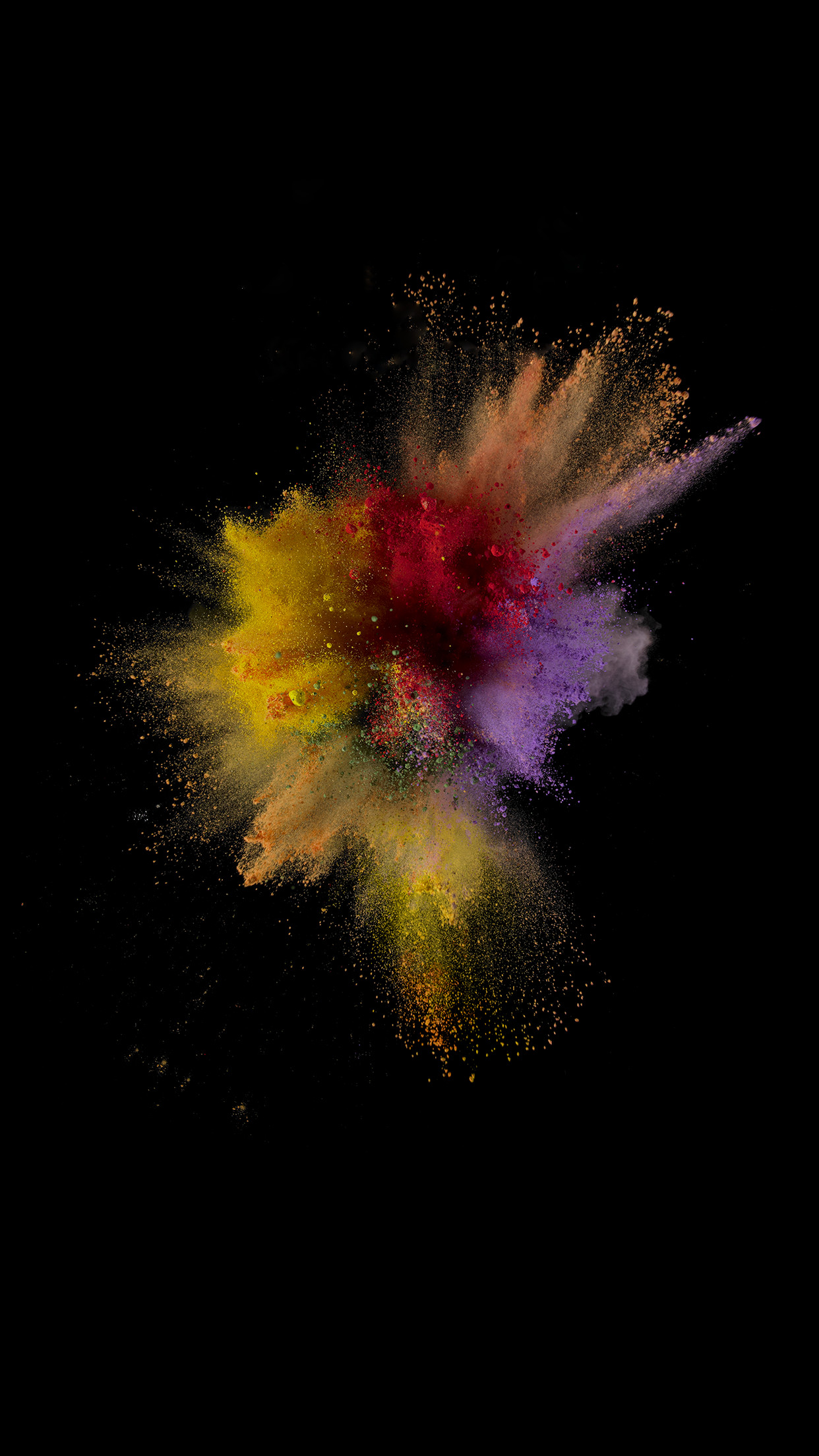 1242x2208 iOS 9 paint explosion number 1 wallpaper ...