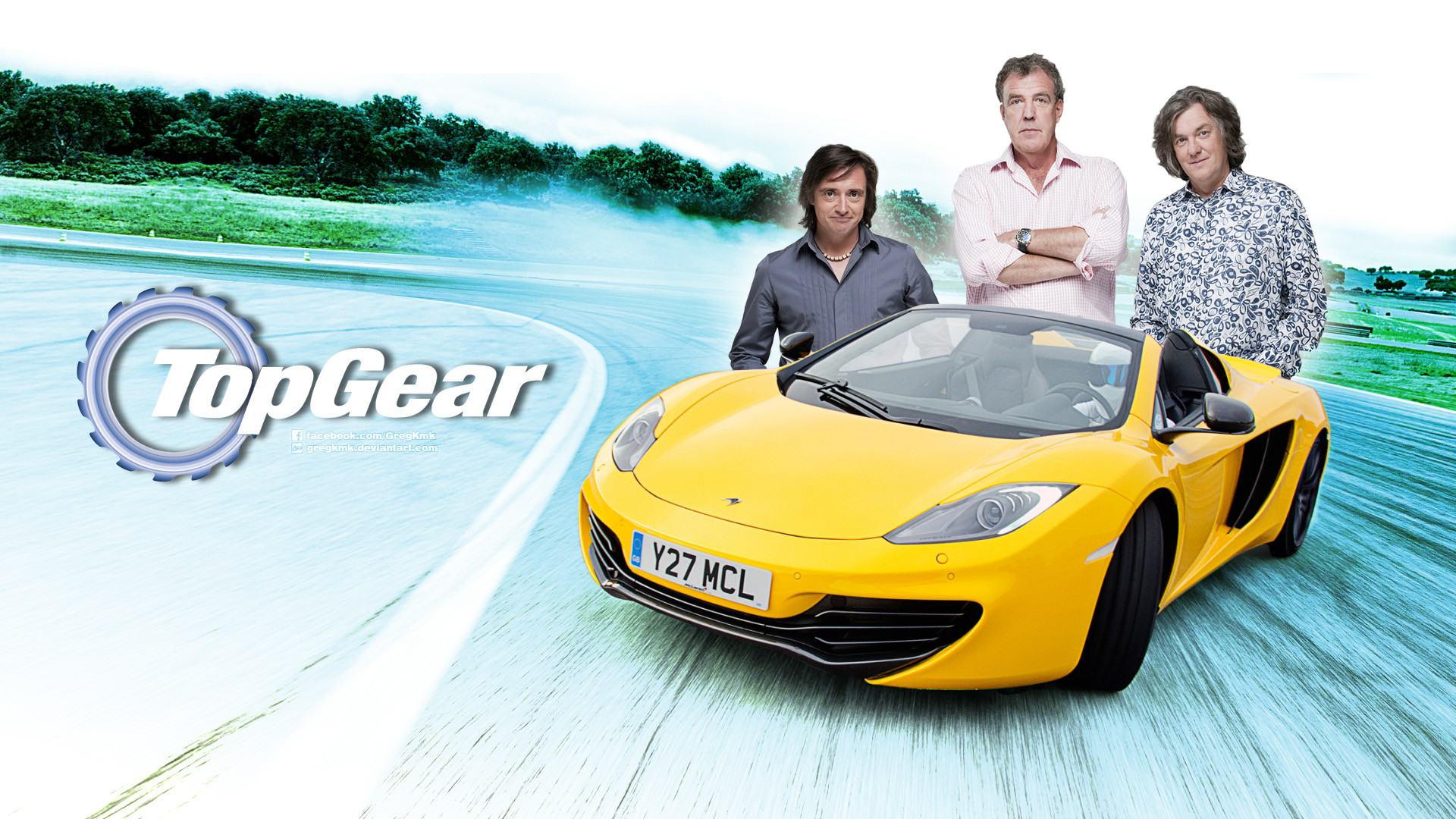 1920x1080 TV Show - Top Gear Richard Hammond James May Jerremy Clarkson Spider  McLaren Wallpaper
