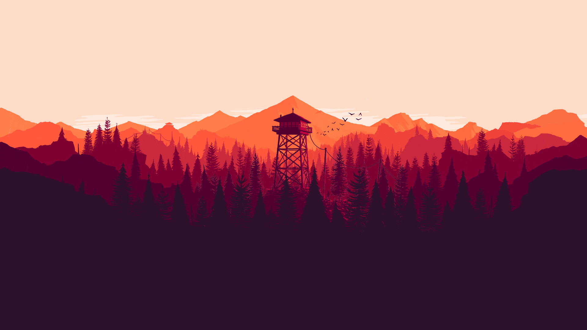 1920x1080 I made some dual and single monitor Firewatch wallpapers for different  times of the day