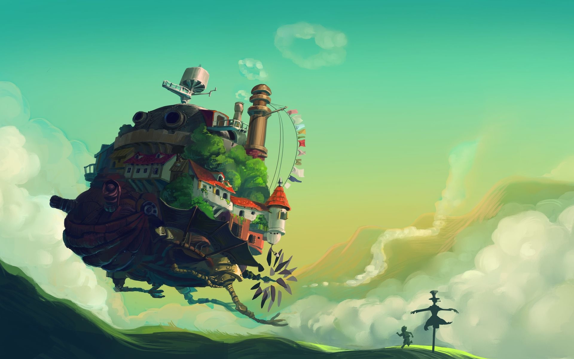 1920x1200 howl's moving castle moving spell | Howl's Moving Castle Wallpaper - High  Definition wallpapers | Latest