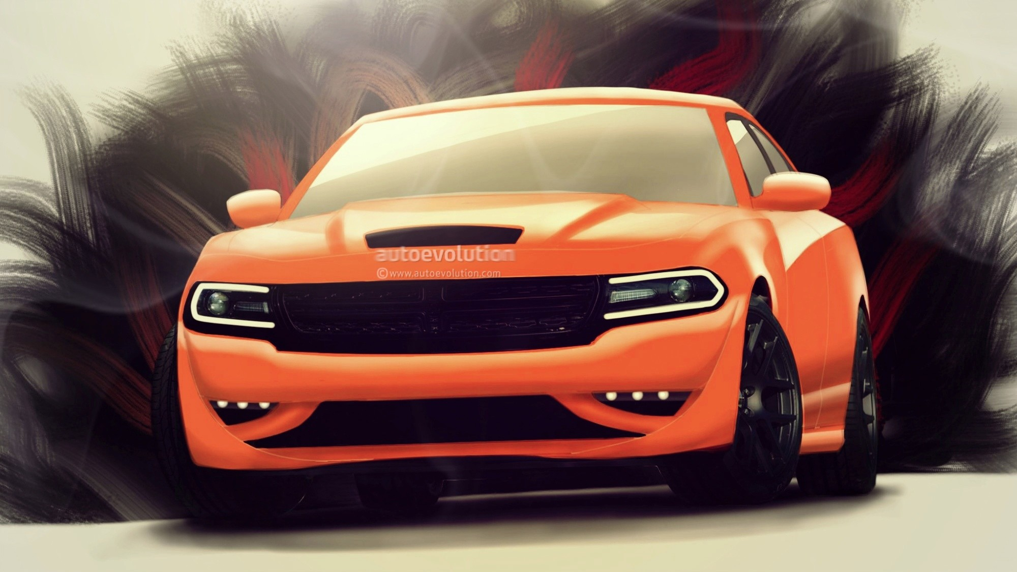 2000x1125 2015 Dodge Charger Srt Hellcat Sedan Custom Orange Autoevolution