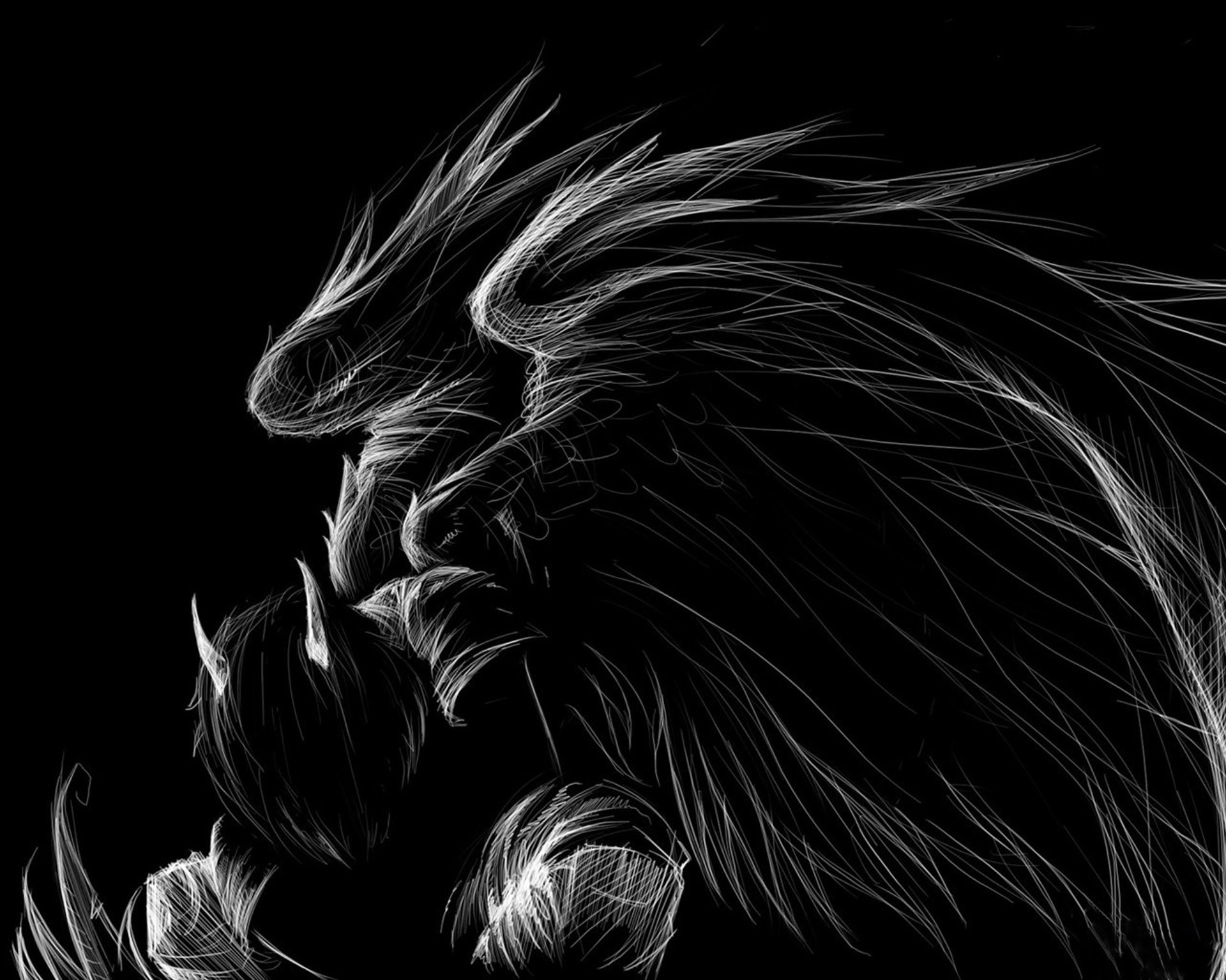 1920x1536 Black And White Wings Dark Angel Horns Wallpaper At Dark Wallpapers