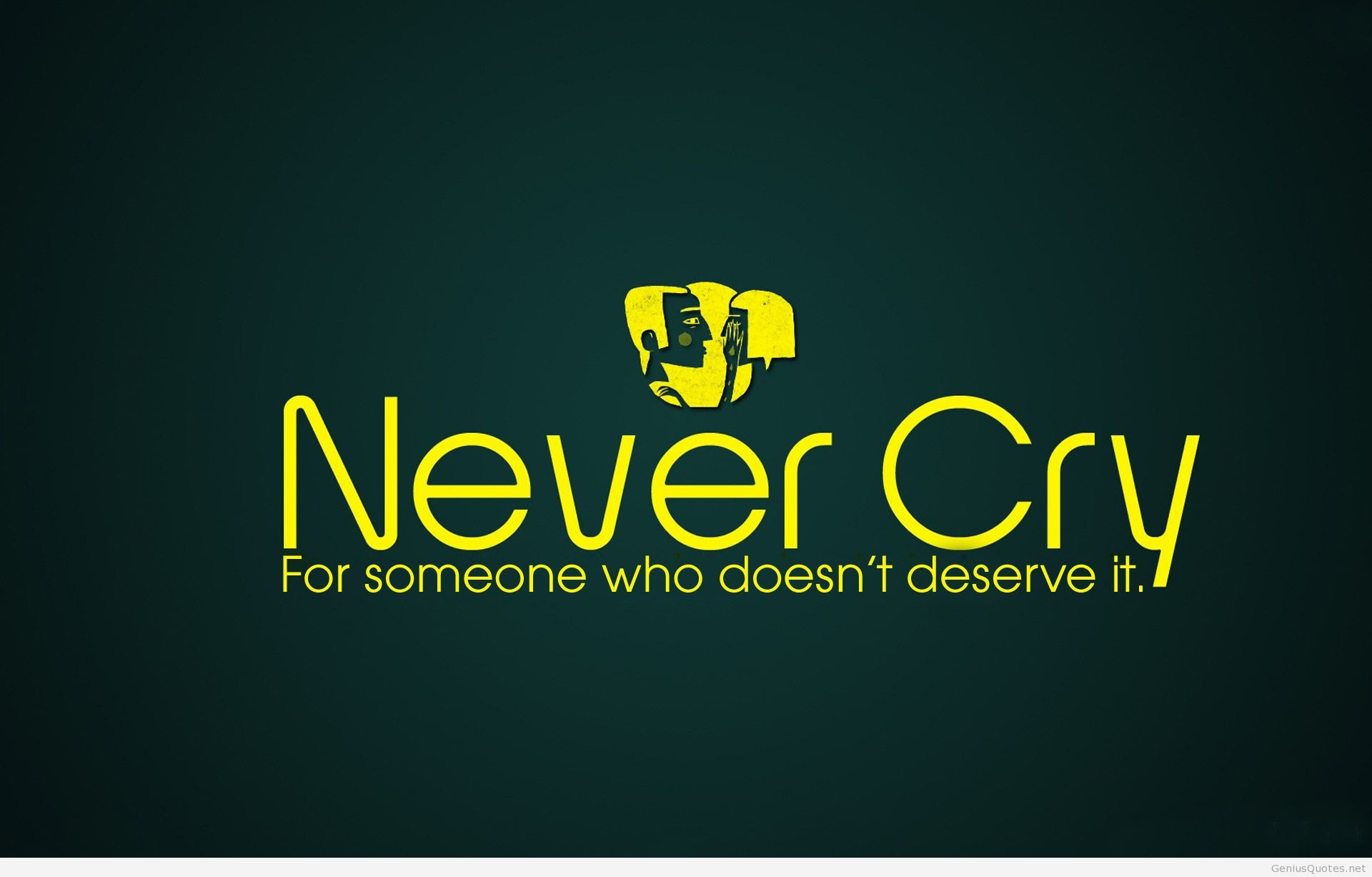 1920x1227 Never Cry Hd Wallpaper Quote