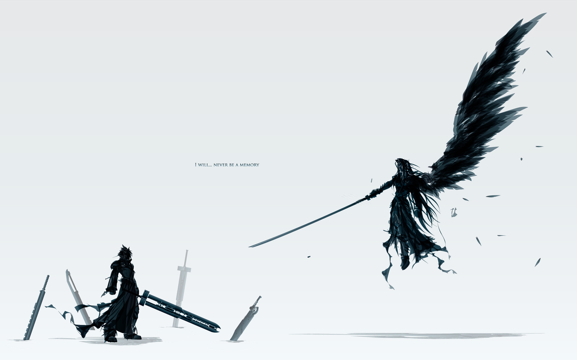 1920x1200 Tags: Anime, Final Fantasy VII, Cloud Strife, Sephiroth, Wallpaper