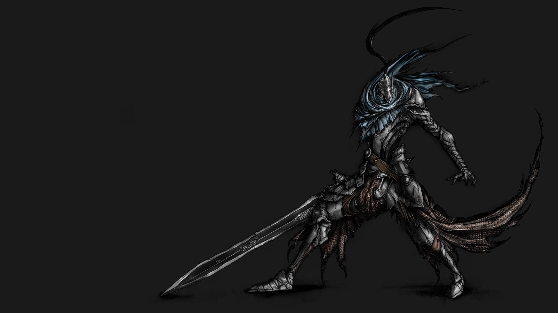 1920x1080 Animation Artorias The Abysswalker Dark Souls Helmets Masks Simple  Background Unrealistic Warriors Weapons ...