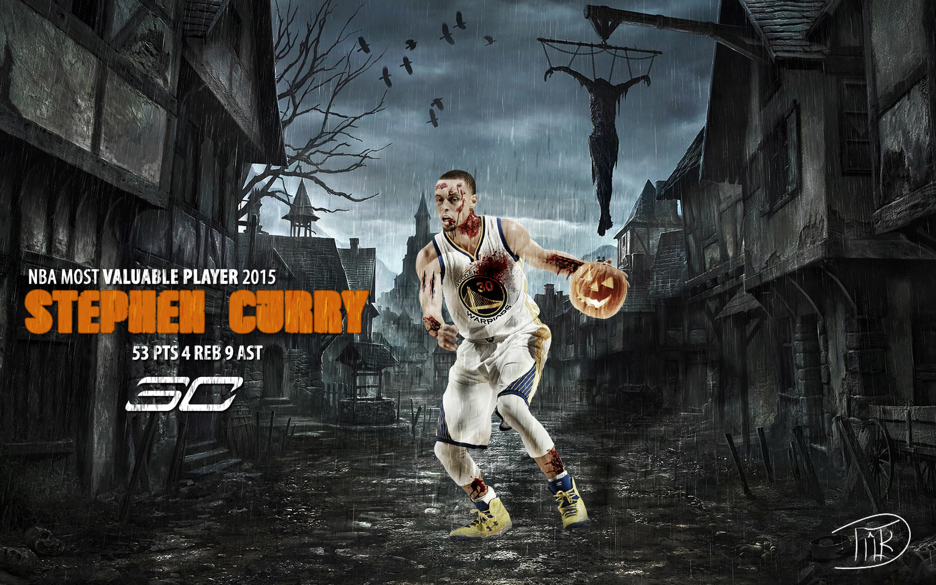 1920x1200 Stephen Curry Halloween 2015 Wallpaper