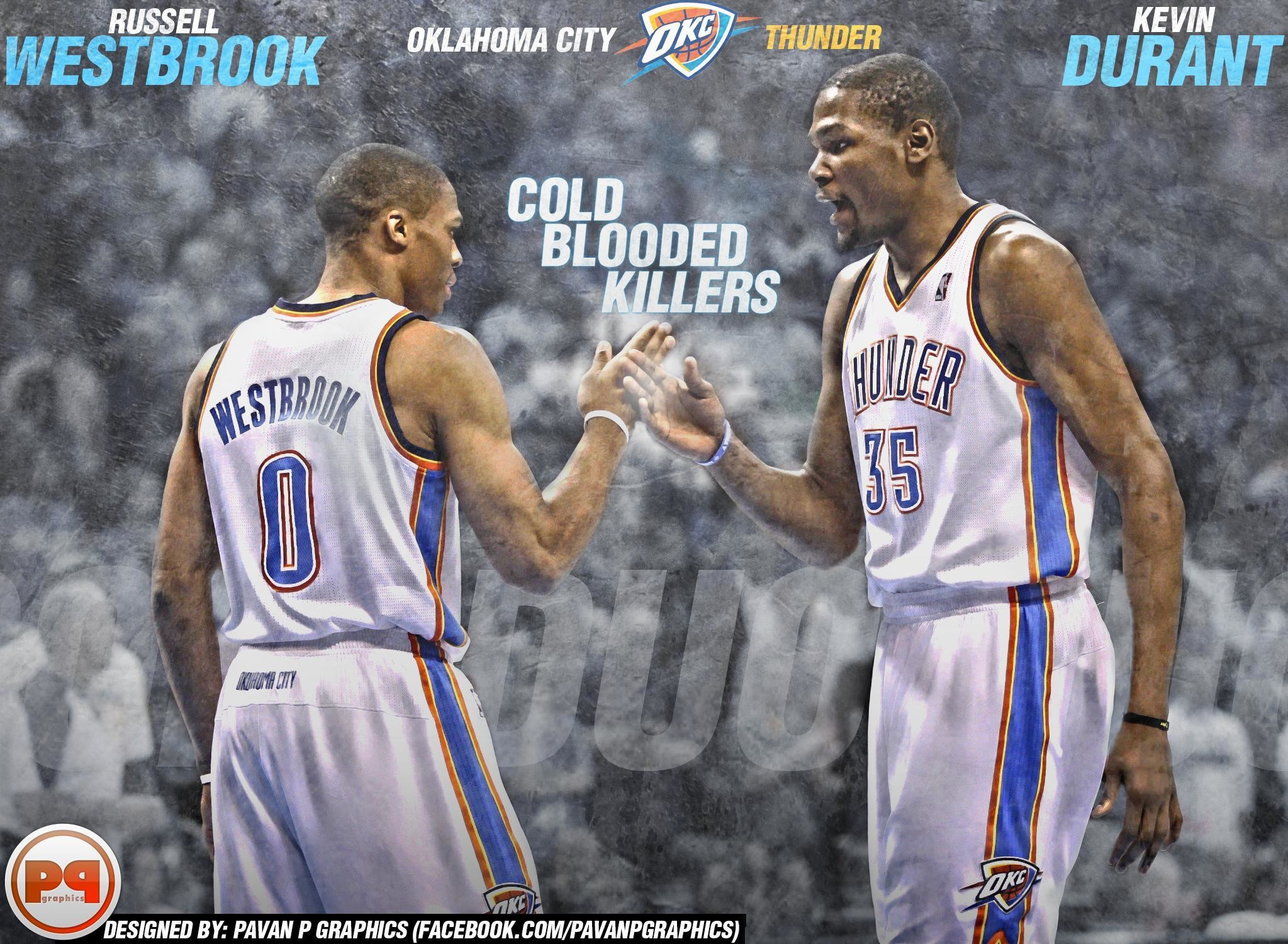 2047x1501 Kevin Durant And Russell Westbrook Wallpapers 2017 - Wallpaper Cave