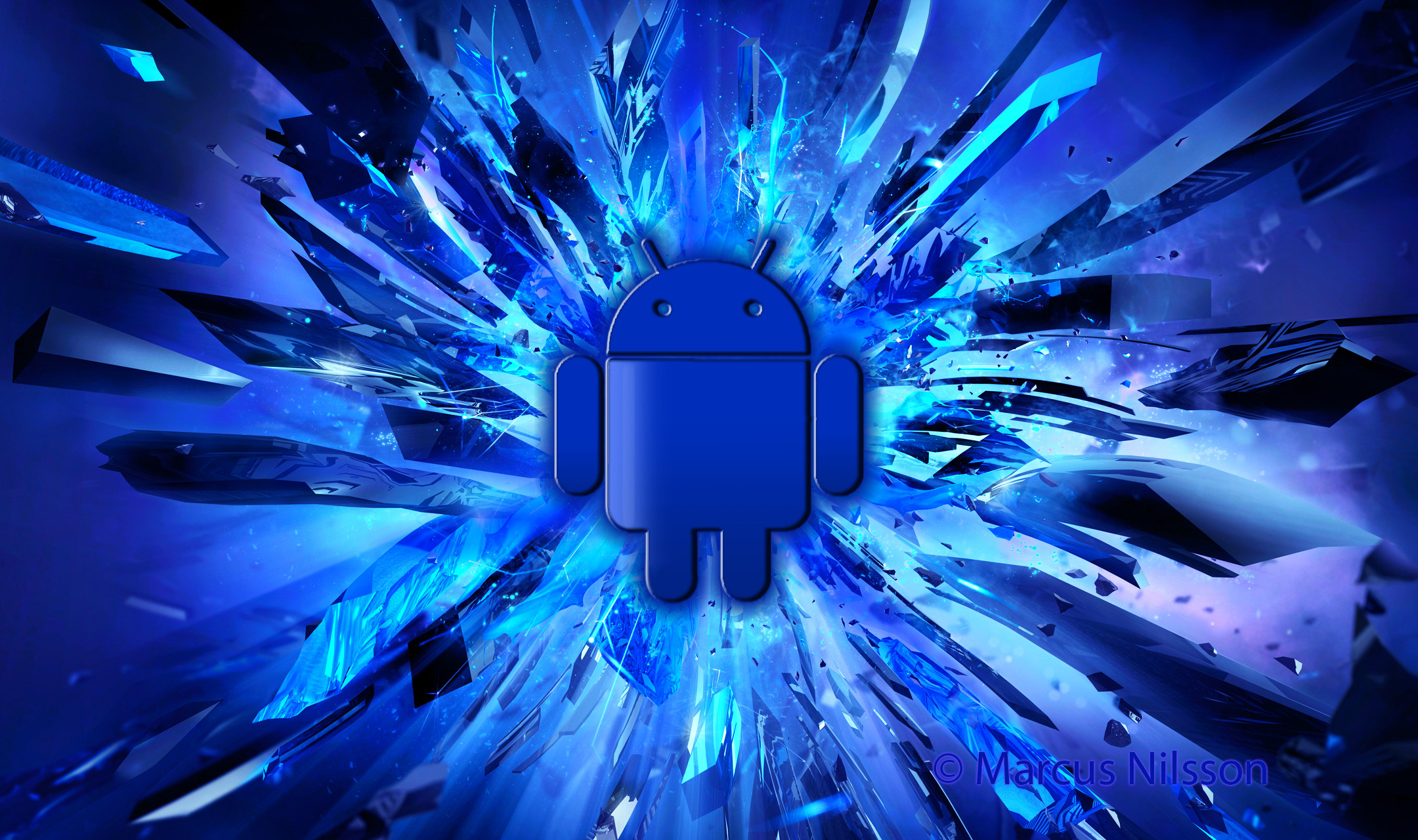2160x1280 Blue android wallpaper | Funky Fresh Studio