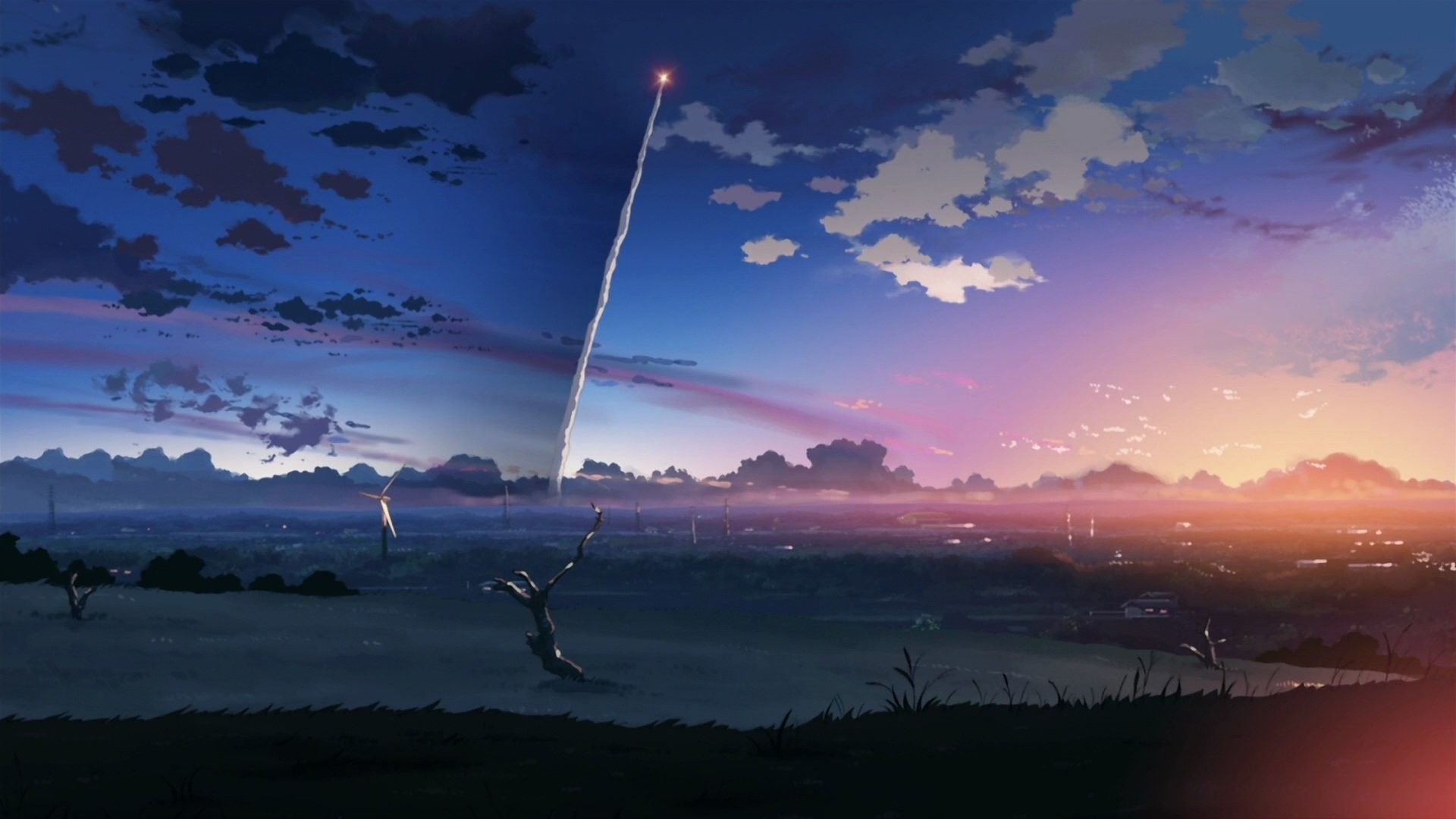 1920x1080 Anime - 5 Centimeters Per Second Centimeters Second Anime Wallpaper