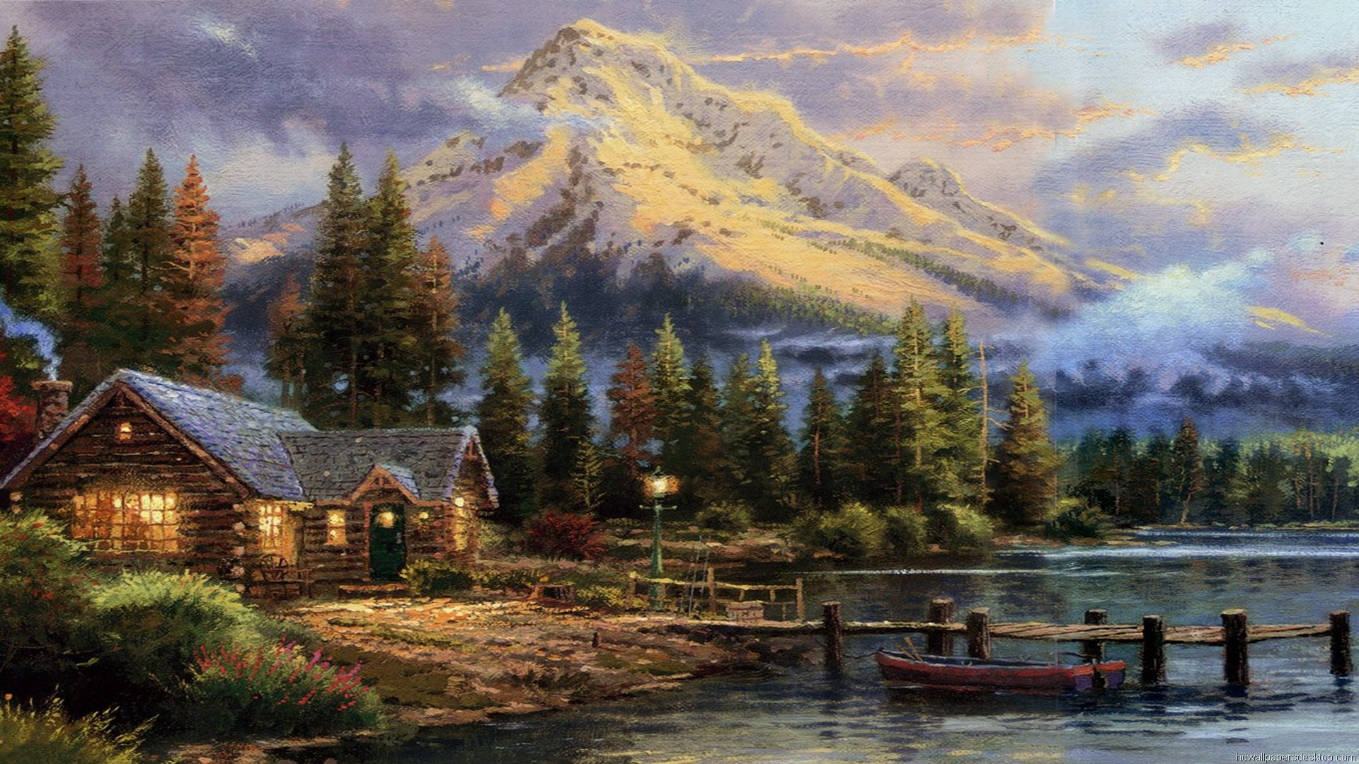 1920x1080 Thomas Kinkade Wallpaper for Computers - WallpaperSafari Thomas Kinkade Summer Wallpaper - WallpaperSafari .