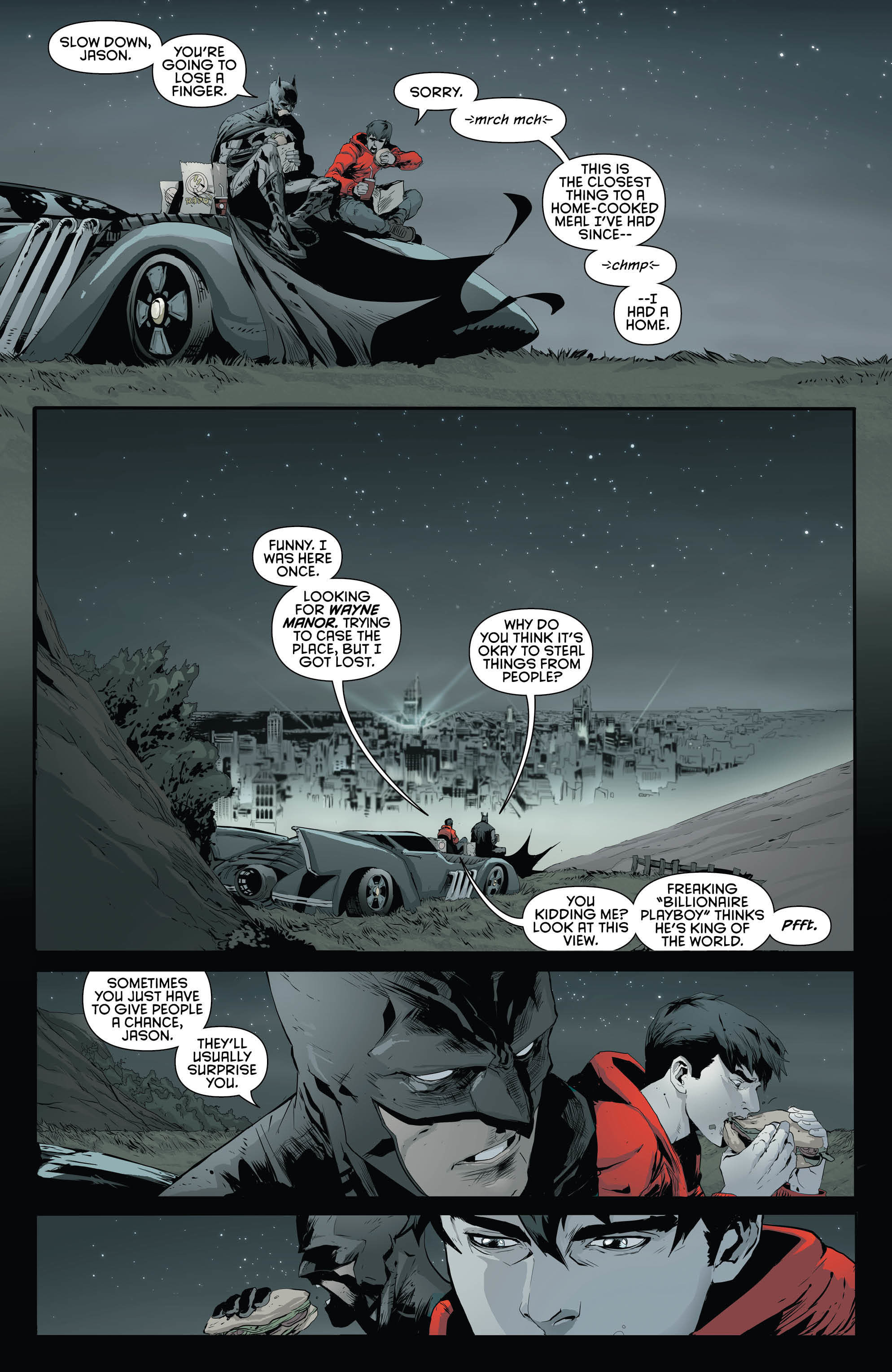 1988x3056 Jason Todd Meets Batman in 'Red Hood and the Outlaws' Preview | Inverse