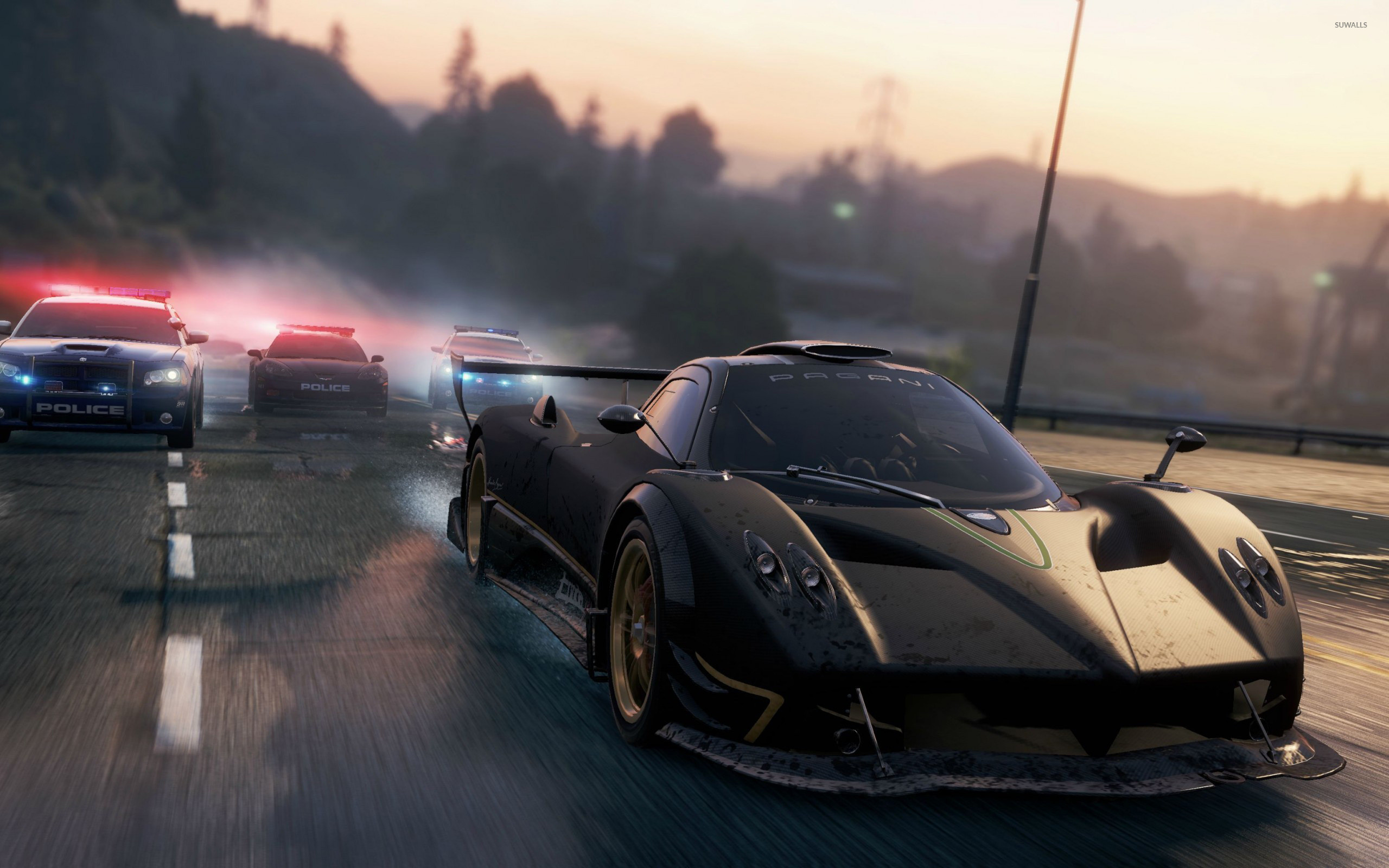 2560x1600 Pagani Zonda R chased in Need for Speed: Most Wanted wallpaper