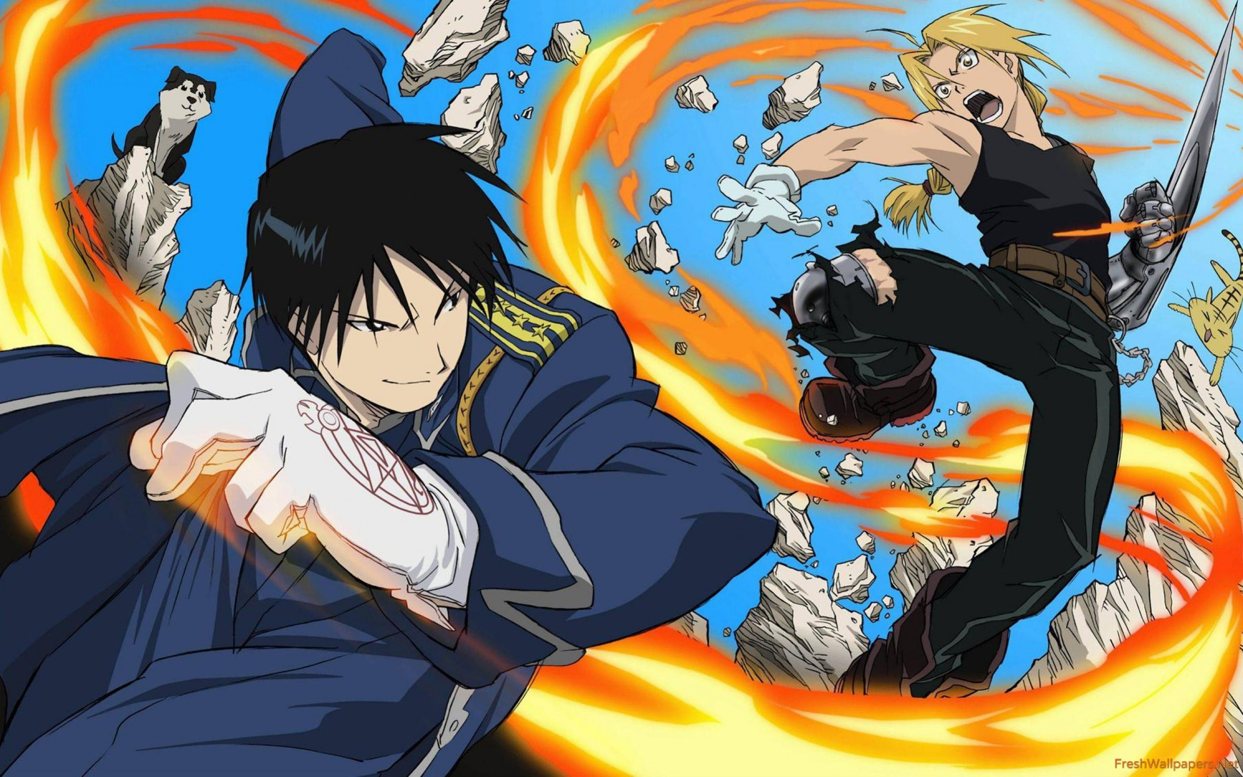 2560x1600 Edward Elric and Roy Mustang - Fullmetal Alchemist wallpaper