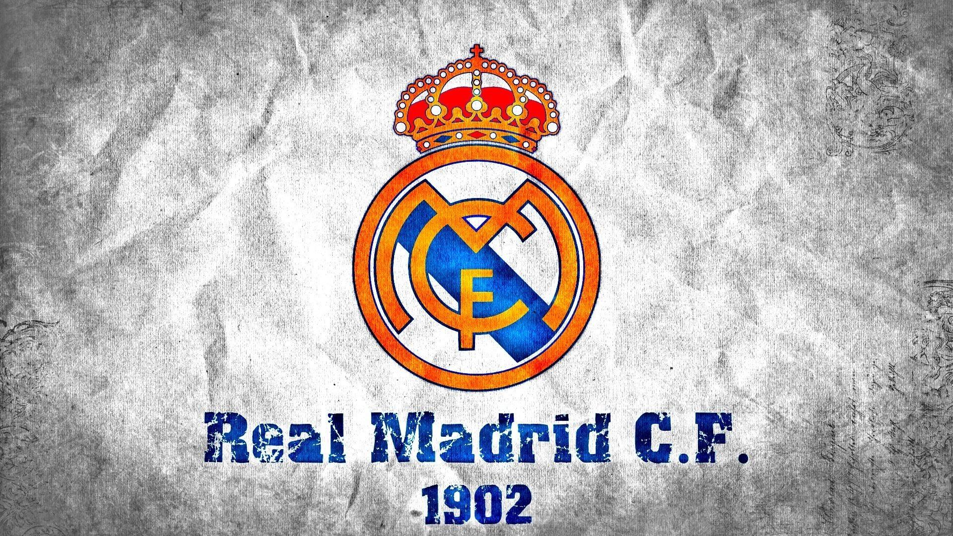 1920x1080 Real Madrid 3d Logo Dekstop Wallpaper