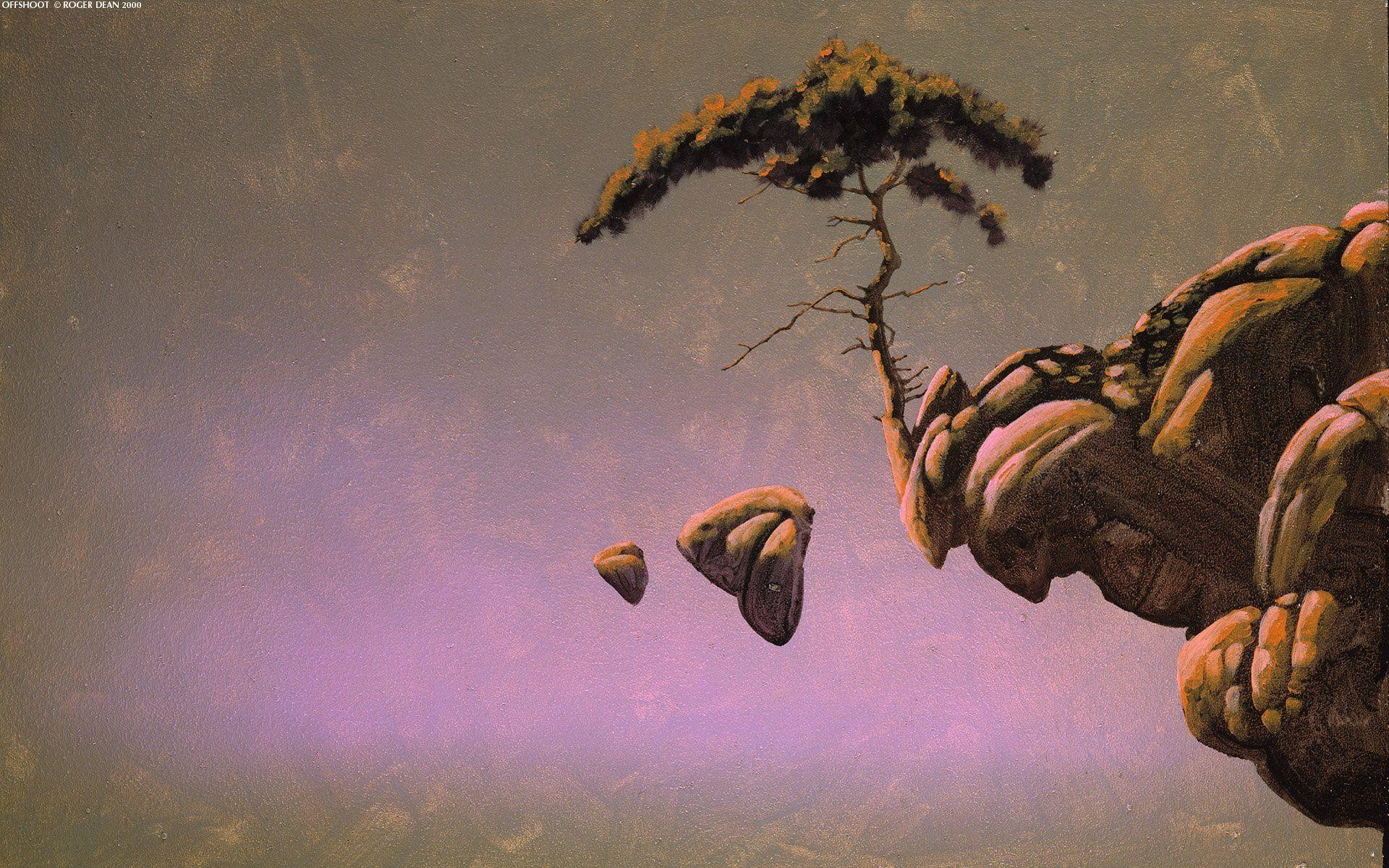 1920x1200 Trees rocks Roger Dean artwork wallpaper |  | 307042 .