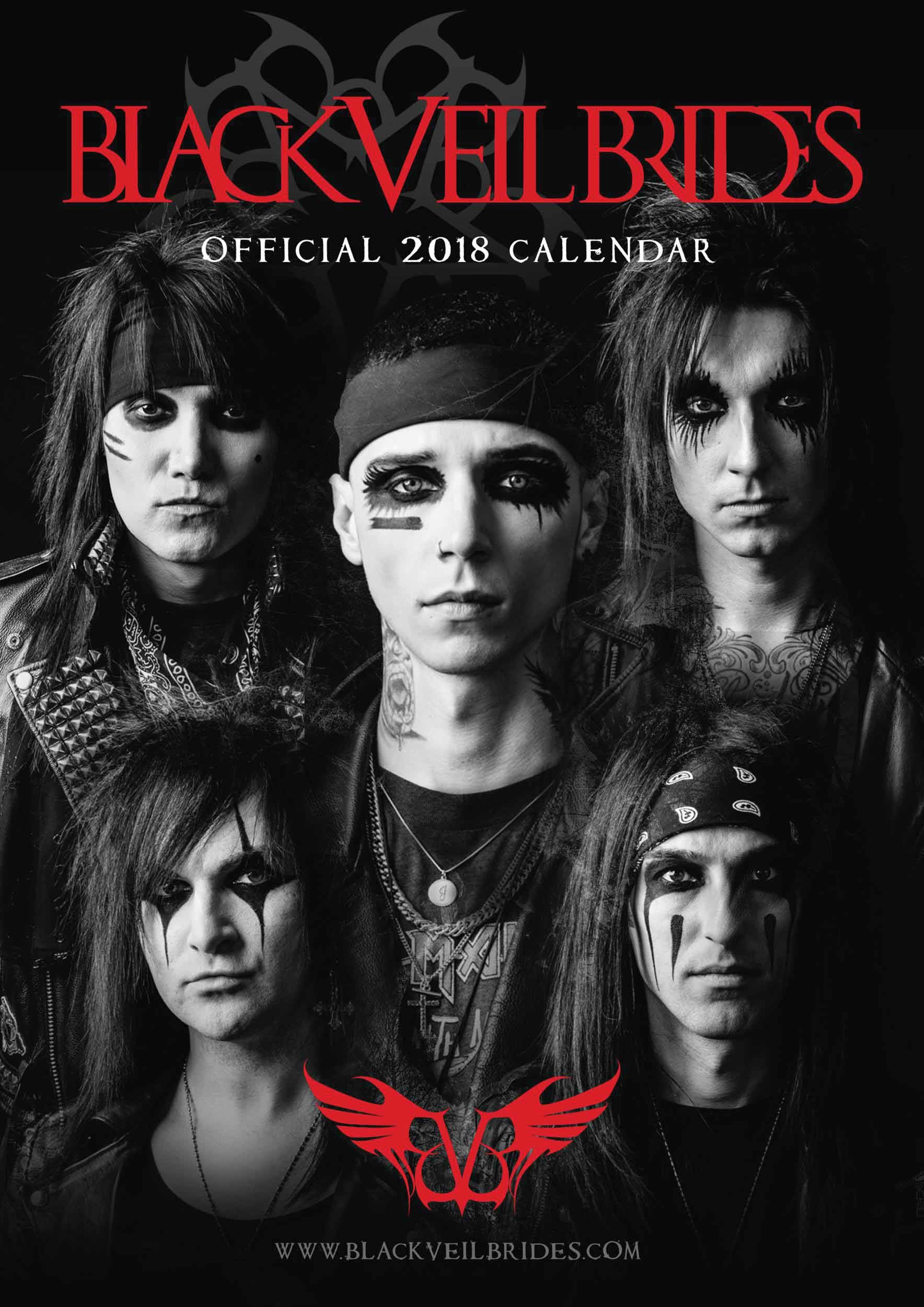 1768x2500 Black Veil Brides Calendar 2018 - Calendar Club UK