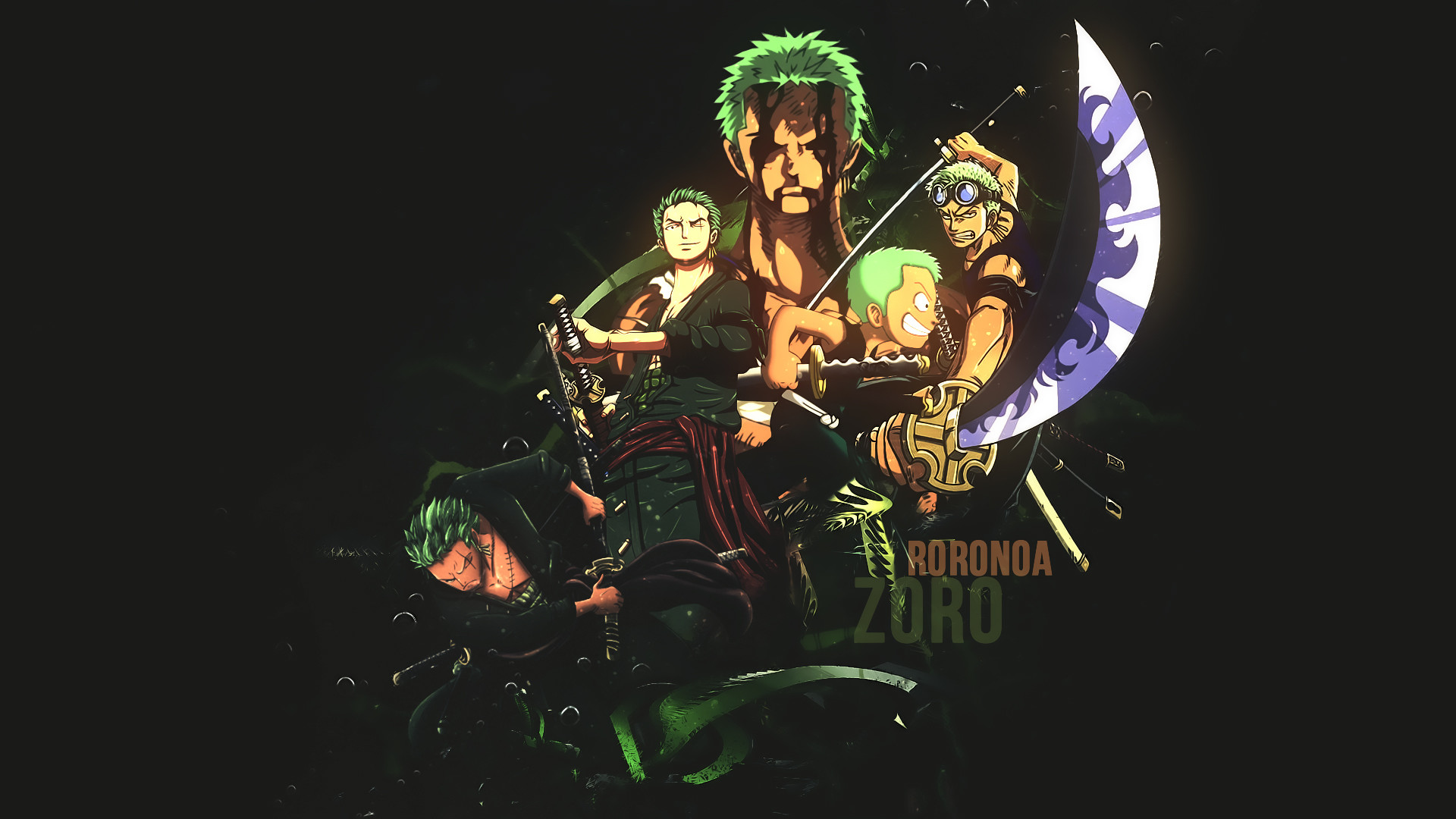 1920x1080 Kick ass Zoro wallpaper