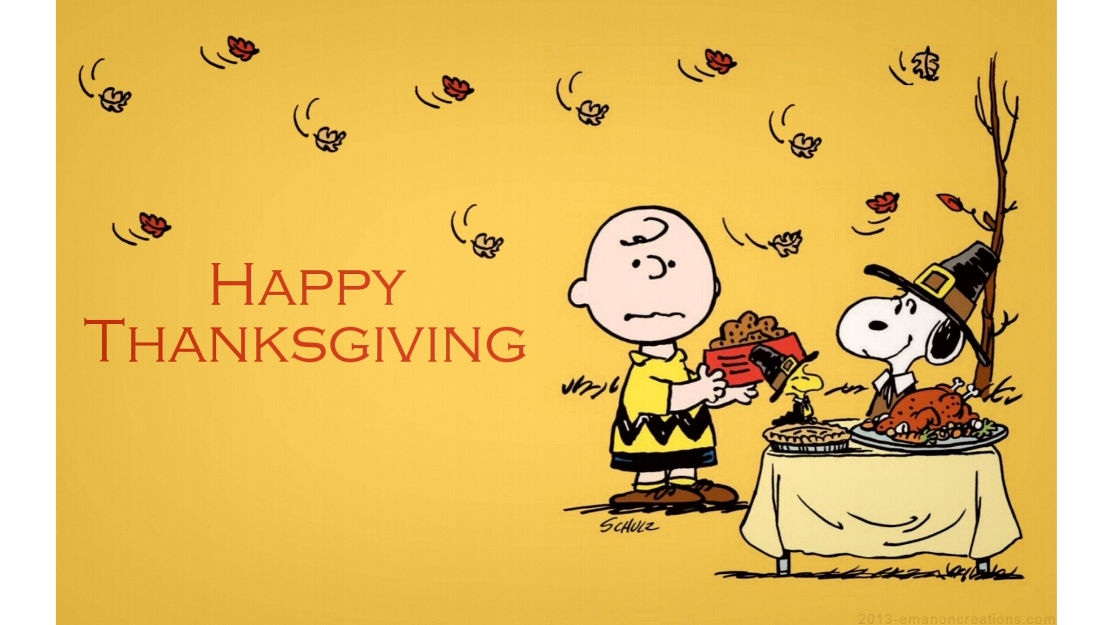 snoopy happy thanksgiving 4k - photo #2