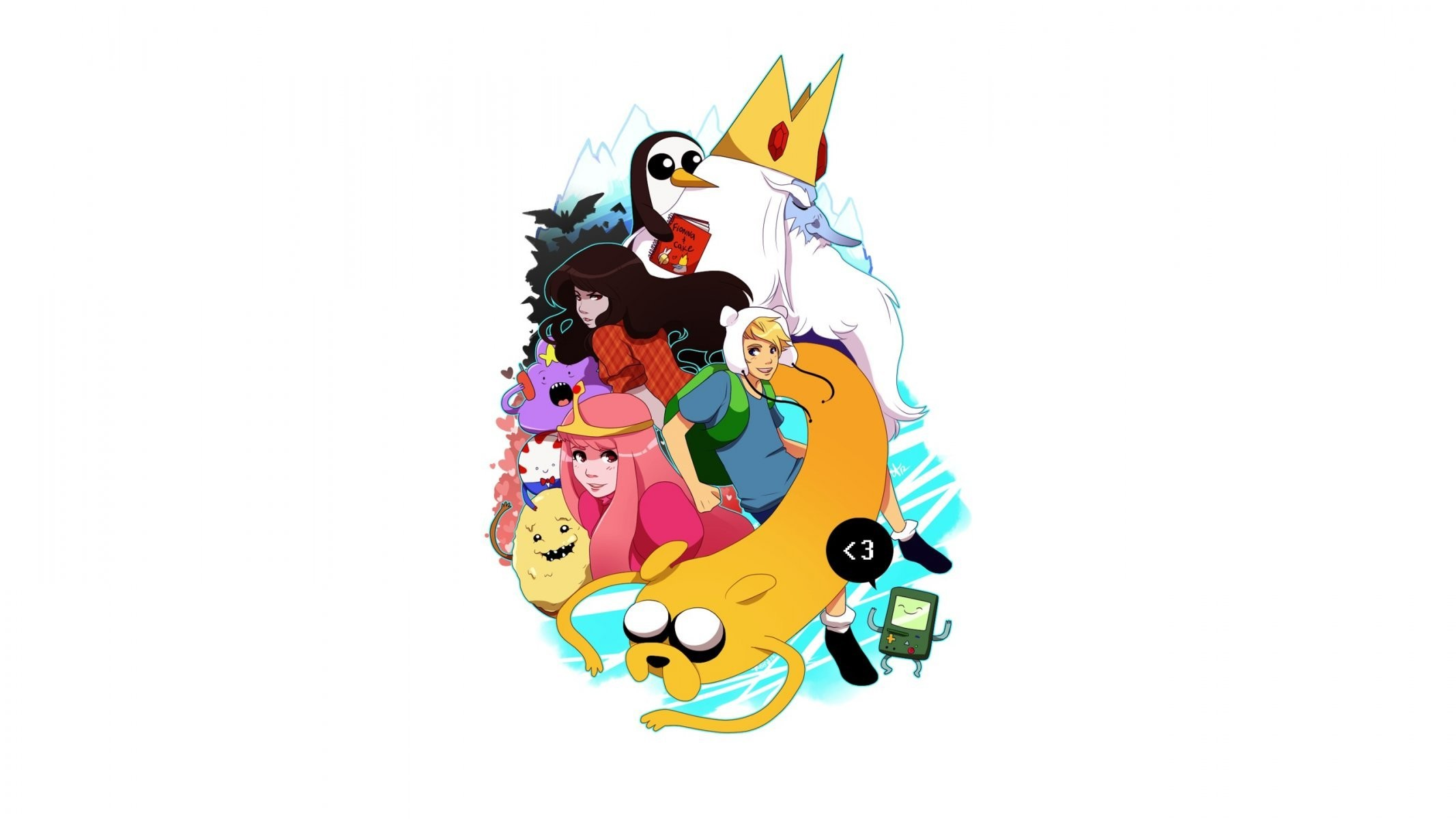 2133x1200 adventure time time adventures it's time adventures finn jake bmo anime  marceline