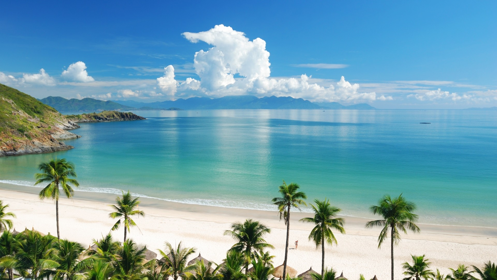 1920x1080 ... Background Full HD 1080p.  Wallpaper beach, tropics, sea,  sand, summer
