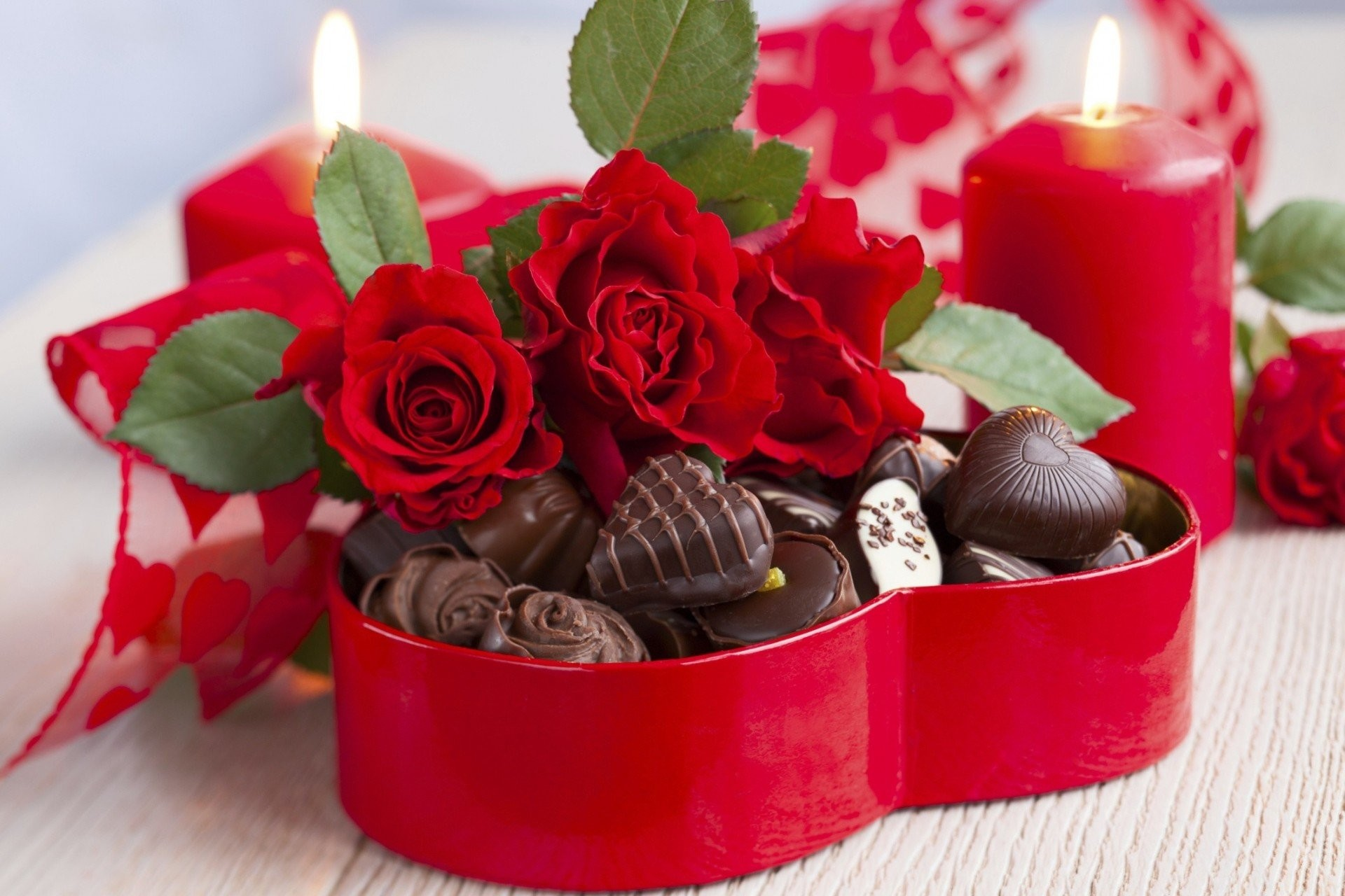 1920x1280 candy holiday bouquet chocolate heart flower cakes love