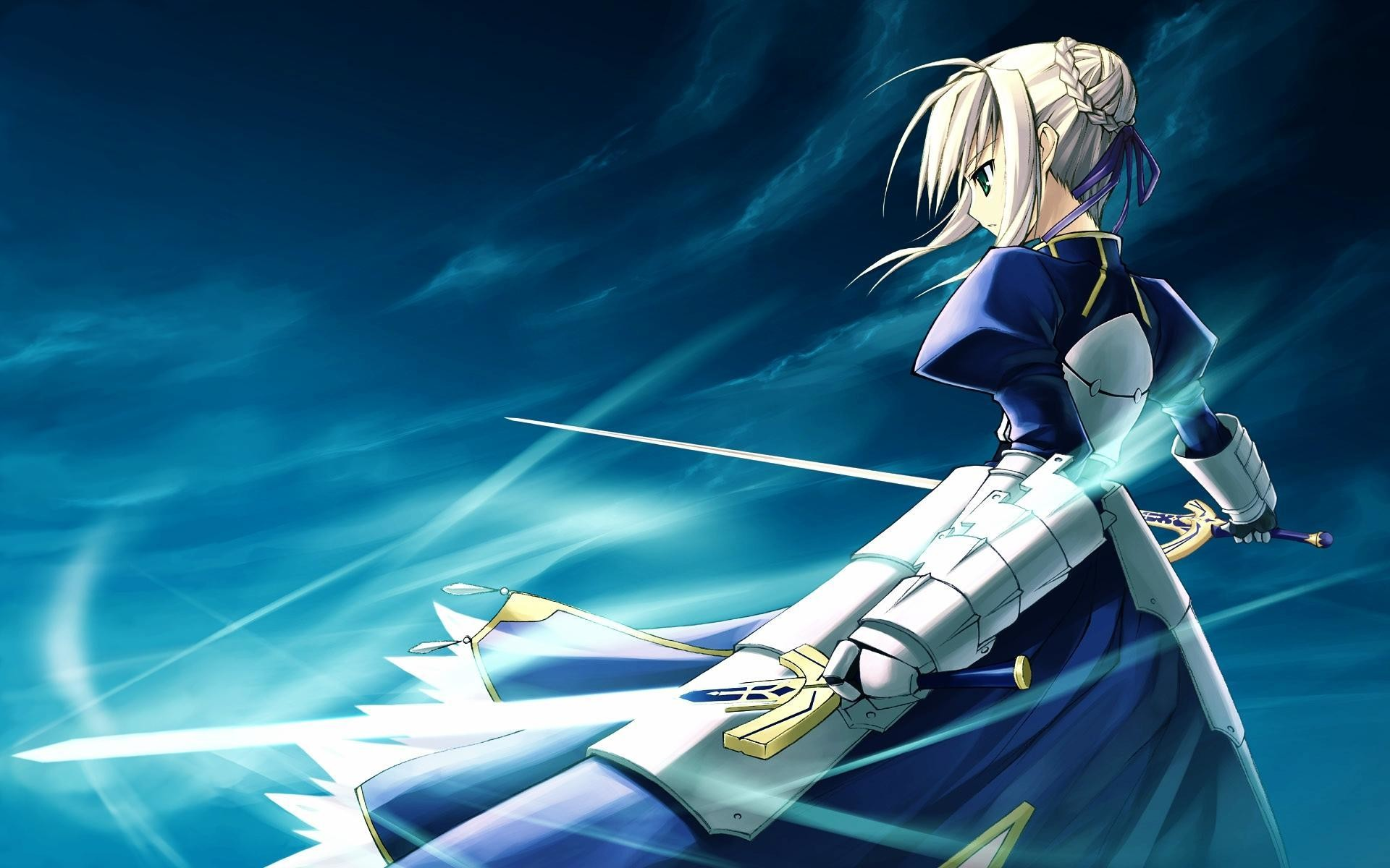 1920x1200 Saber Iphone Wallpaper : Fate stay night anime saber character anime art