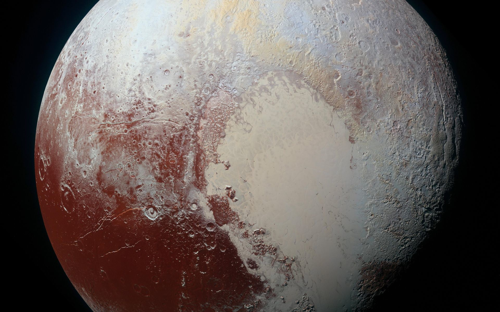 1920x1200 NASA's New Horizons spacecraft captured this high-resolution enhanced color  view of Pluto on July