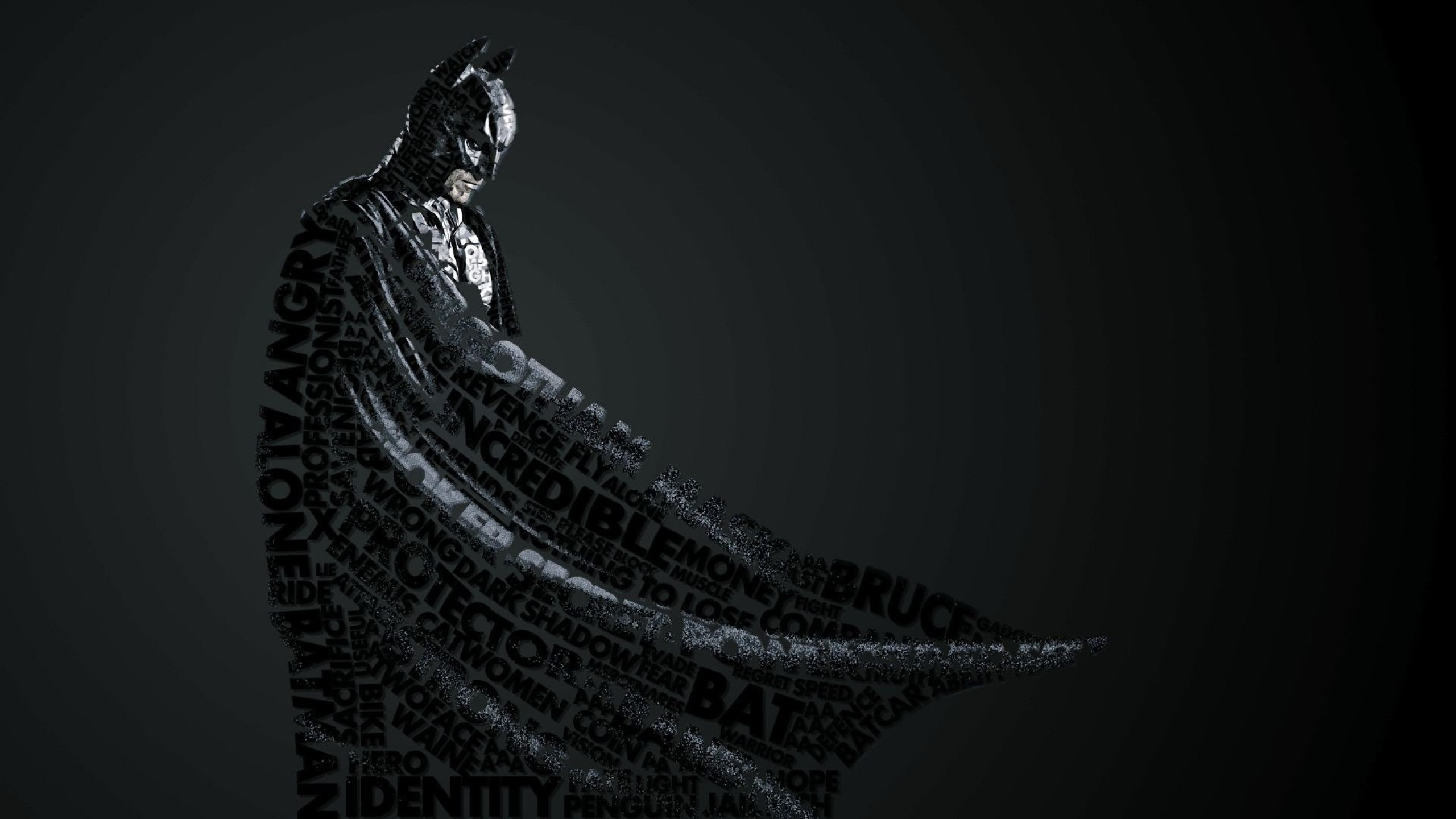 2560x1440 Preview wallpaper batman, style, lettering