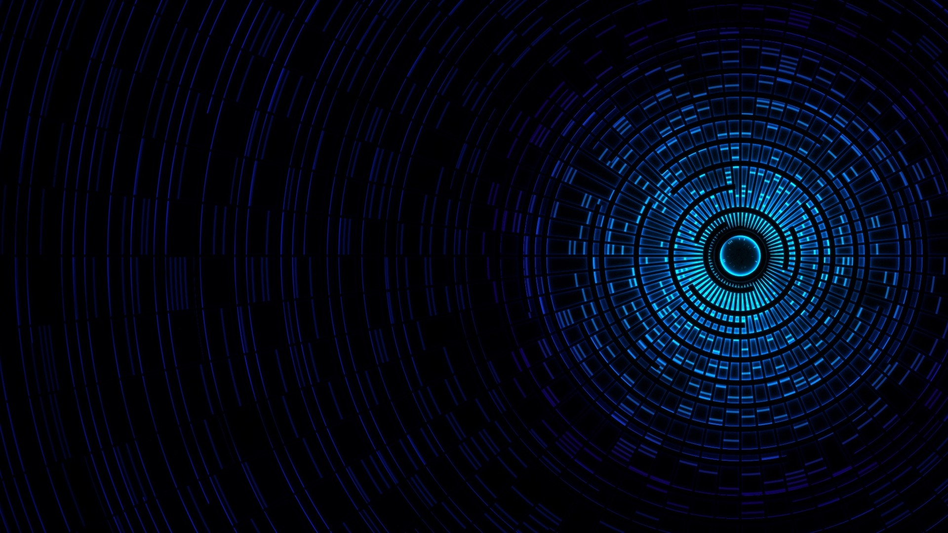 1920x1080 Preview wallpaper abstraction, passage, light, black, blue