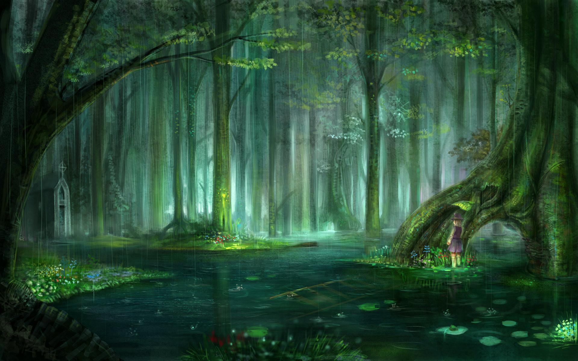 1920x1200 Enchanted Forest Desktop Wallpaper