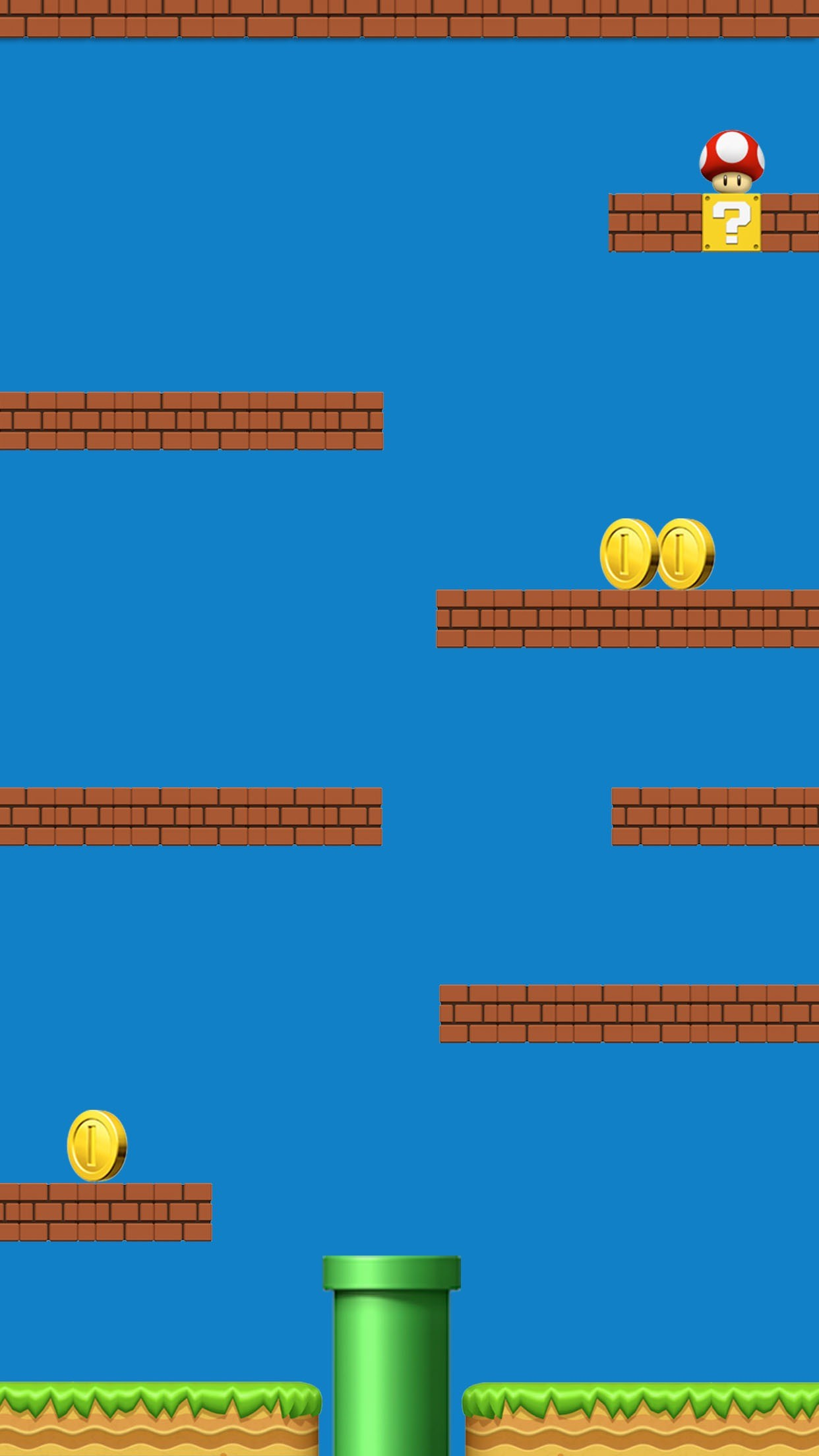 1242x2208 Shelves Super Mario Colorful Awesome Ð¡omputer Graphics. Iphone  BackgroundsWallpaper BackgroundsPhone ...