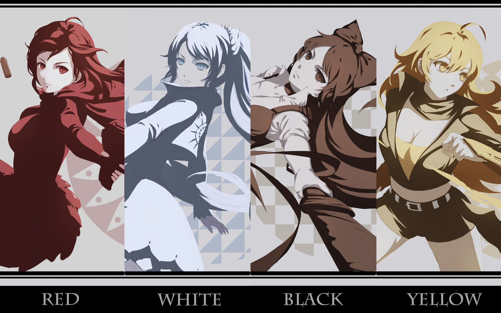 1920x1200 Anime RWBY Ruby Rose Weiss Schnee Blake Belladonna Yang Xiao Long Wallpaper