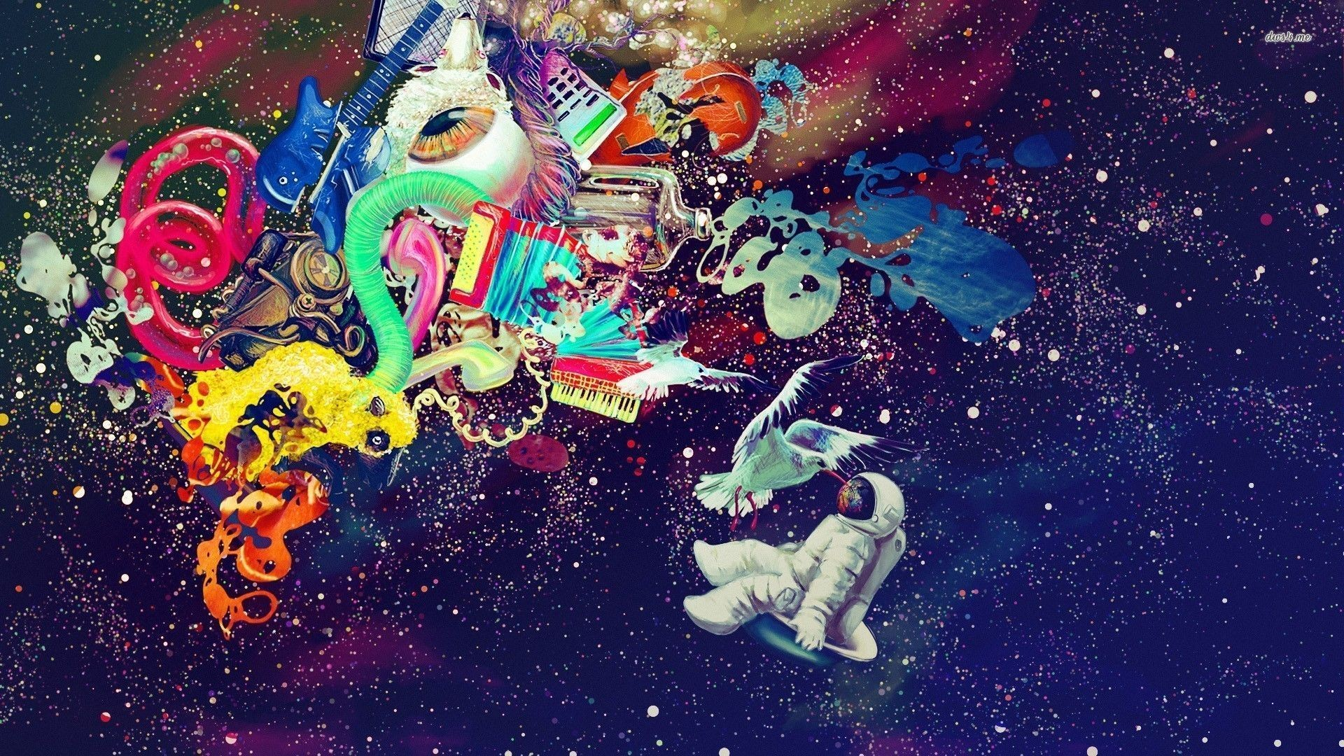 1920x1080 Rainbow Astronaut Wallpaper (page 2) - Pics about space