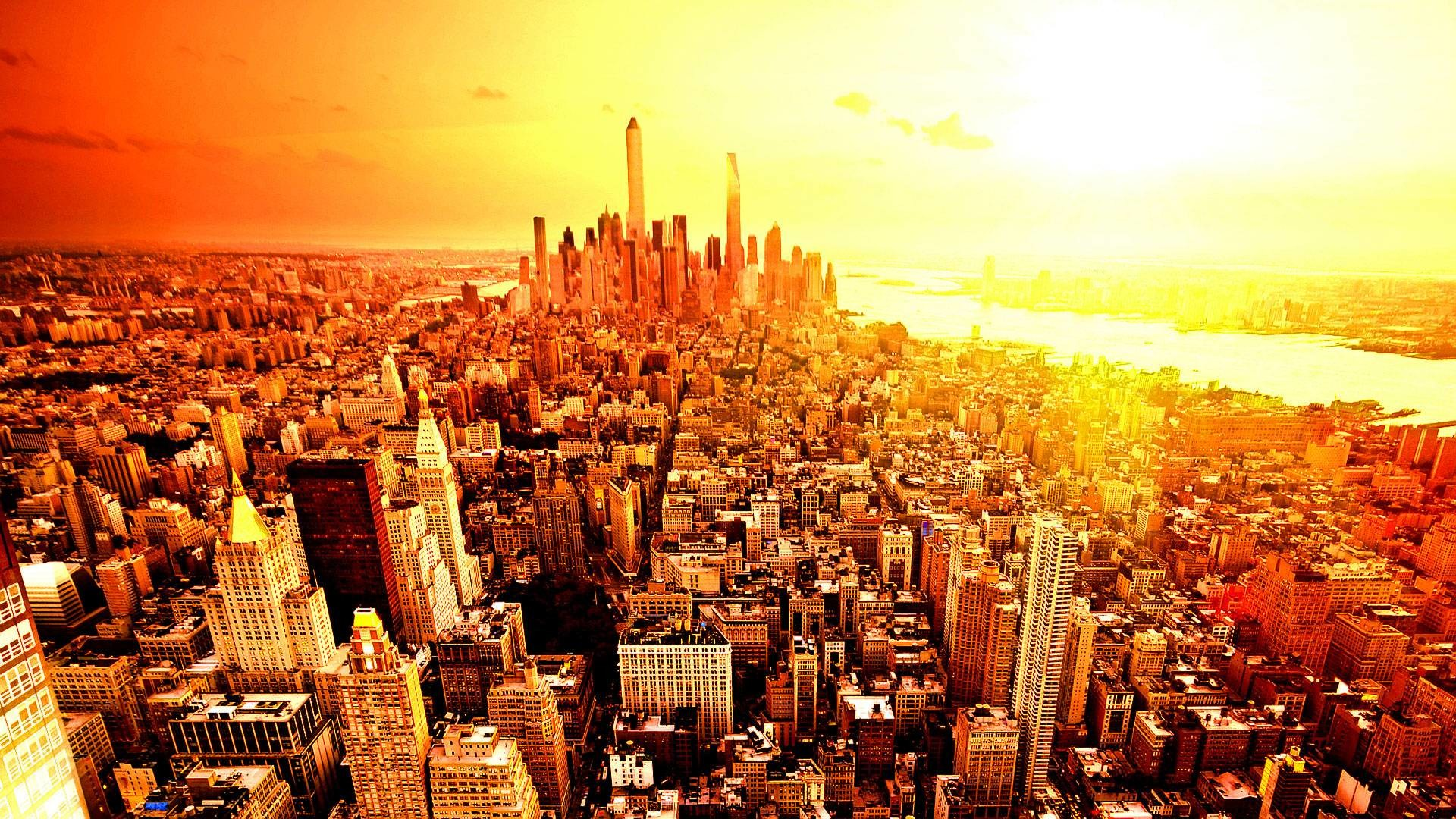 1920x1080 Free Wallpapers - New York city skyline  wallpaper