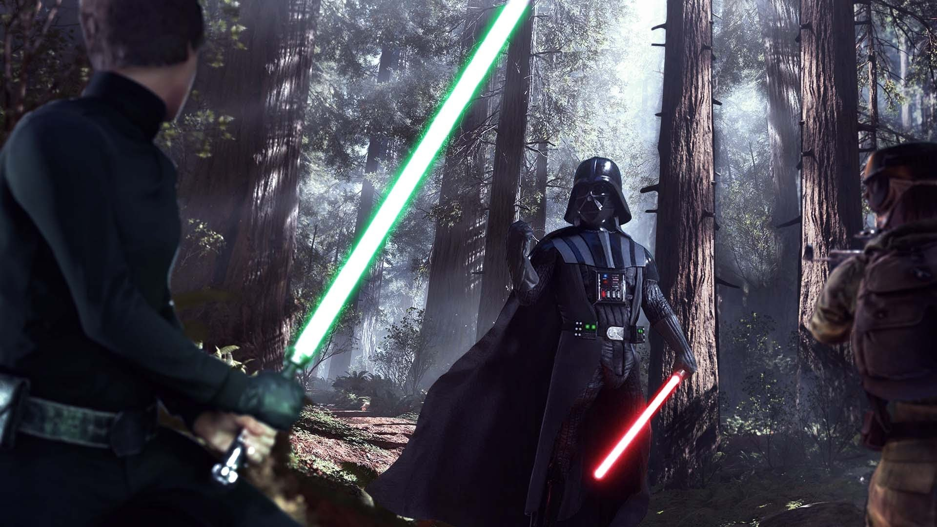 1920x1080 Star Wars Battlefront Luke vs Darth Vader Wallpaper With Download by Gully