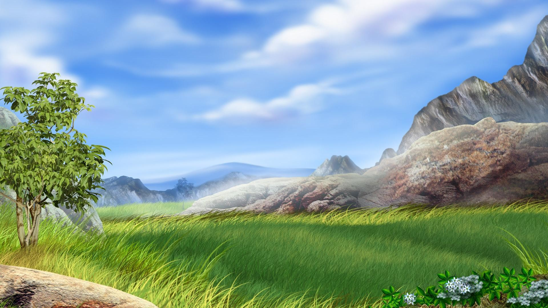 1920x1080  hd Vector field landscape backgrounds wide wallpapers:1280x800,1440x900,1680x1050  - hd