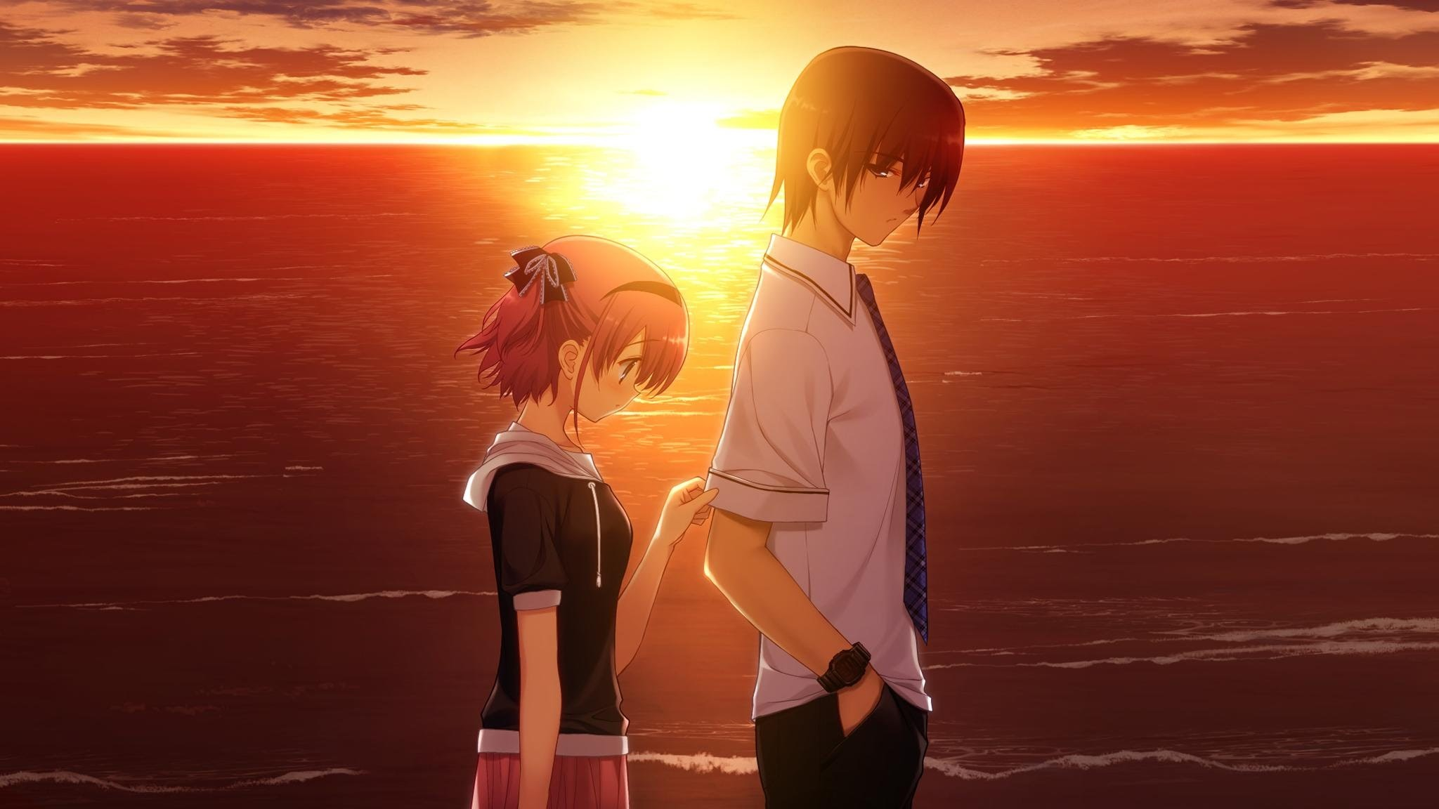 Anime Images Wallpaper Love Couples Couple Hd Wallpaper: Sad Anime Wallpaper (64+ Images