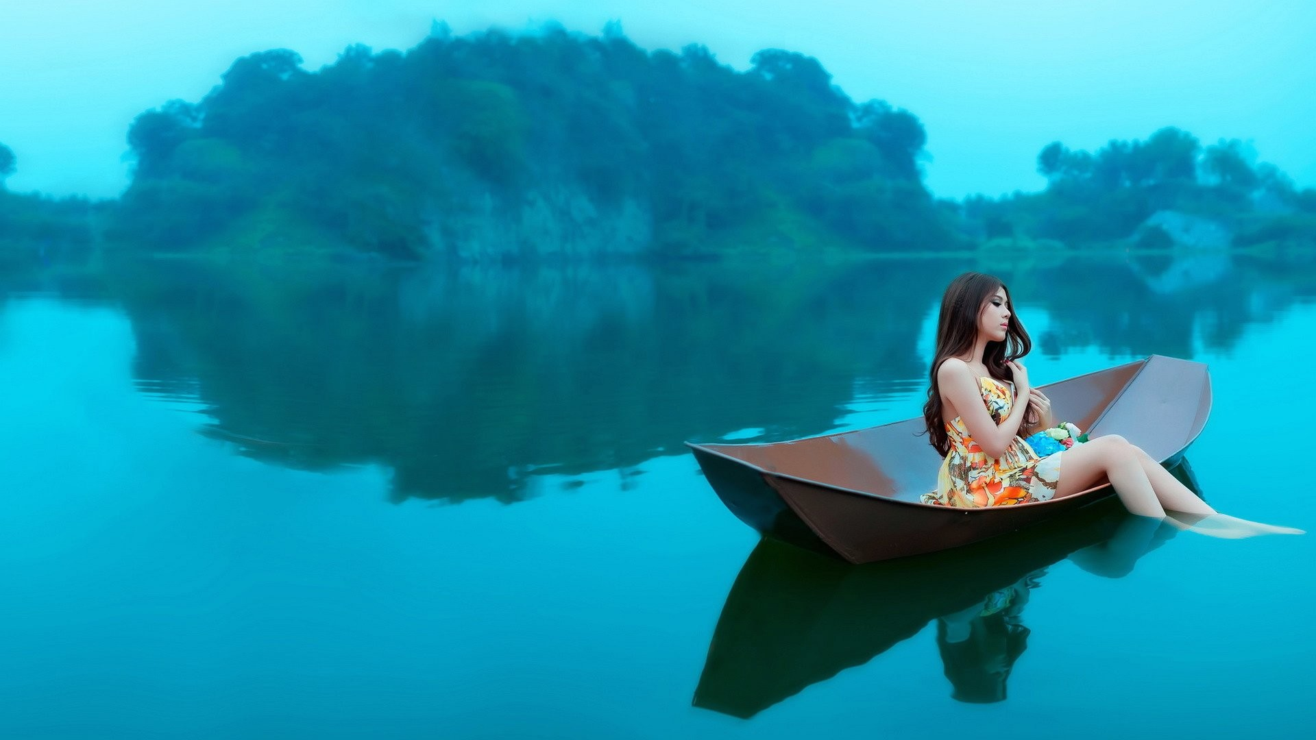 Woman On Boats Wallpaper 64 Images