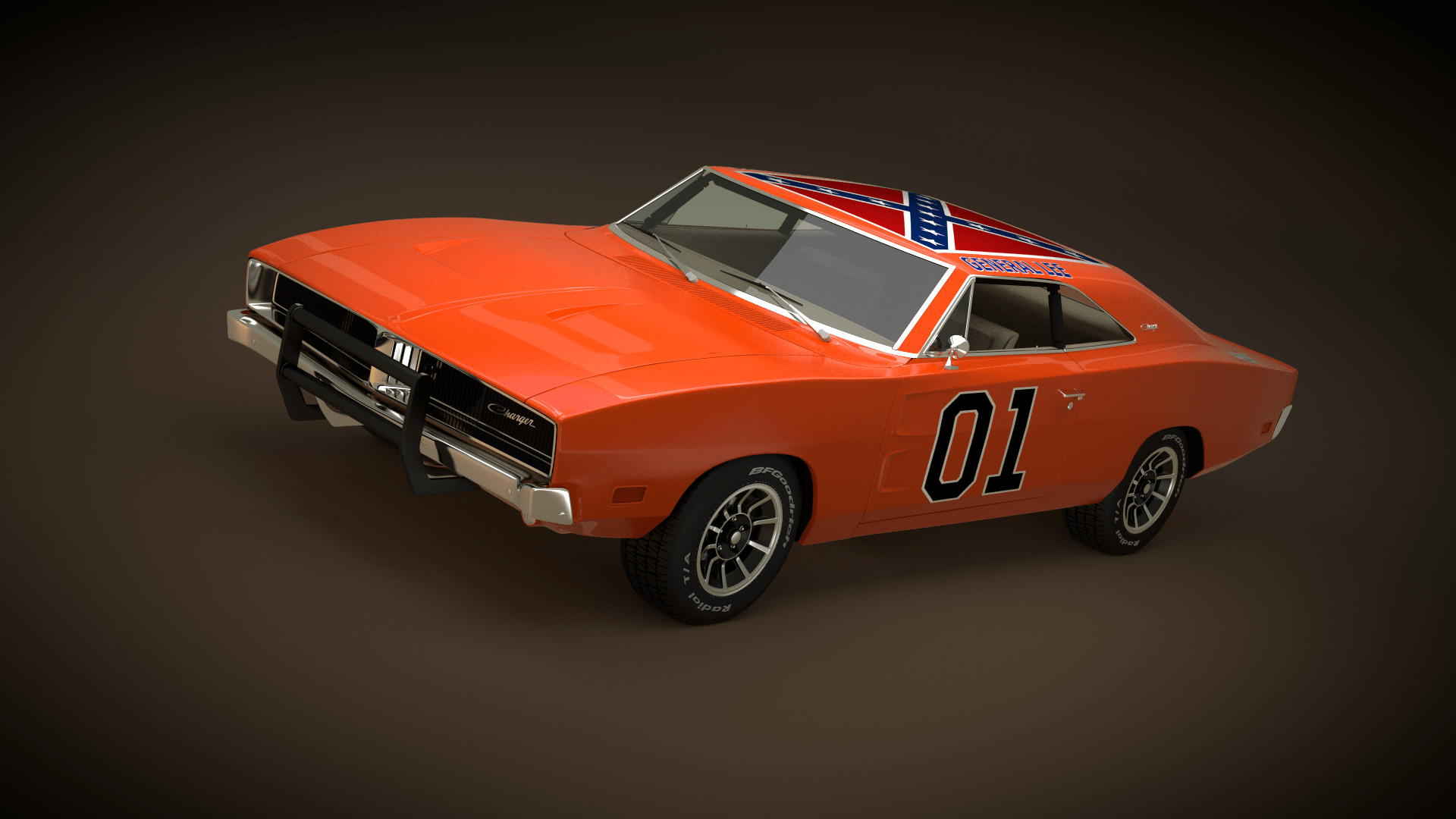 1920x1080 The Dukes Of Hazzard 1969 Dodge Charger By Neubi3d On General Lee Wallpaper