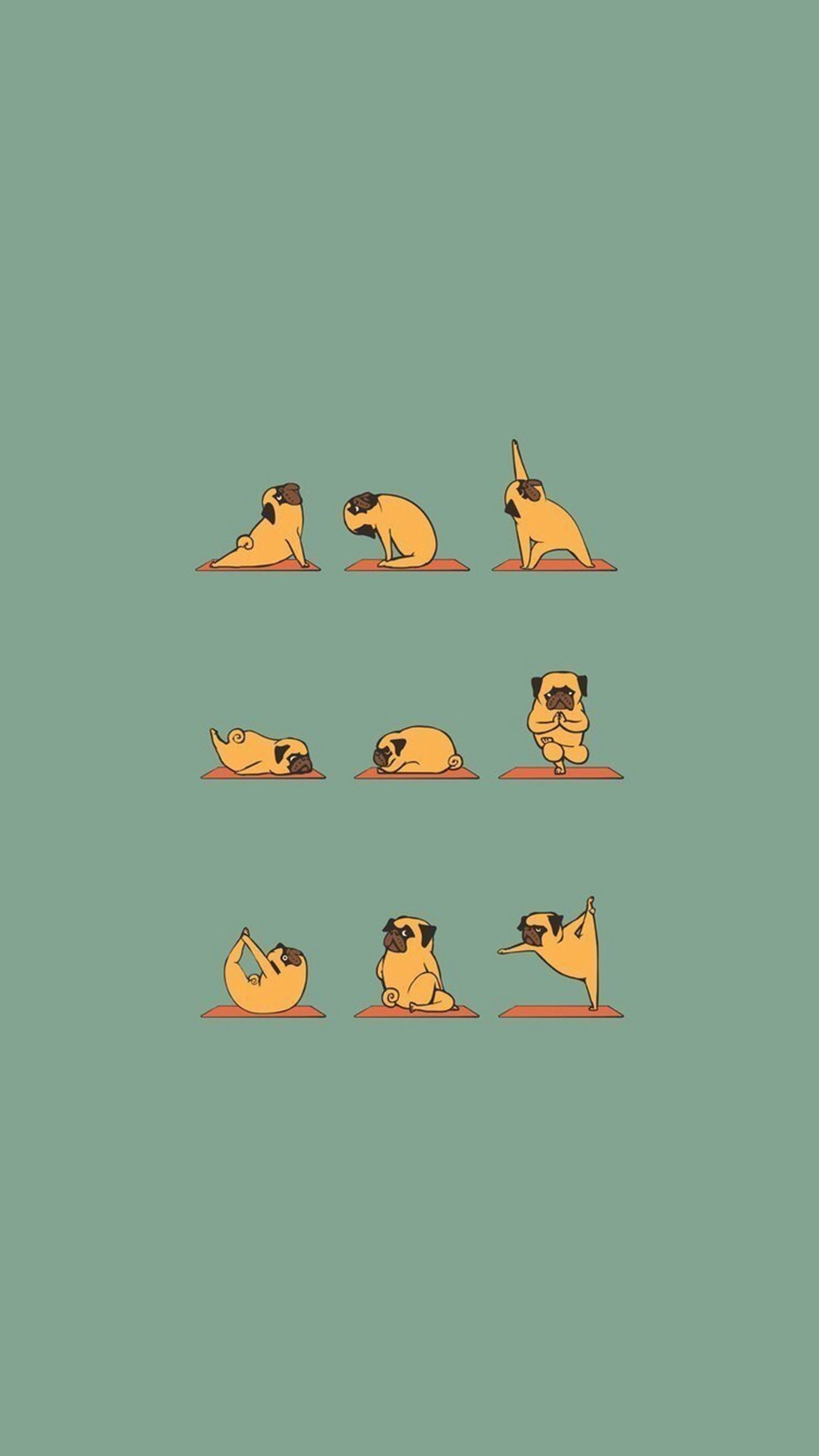1080x1920 Funny Pug Doing Yoga #iPhone #6 #plus #wallpaper