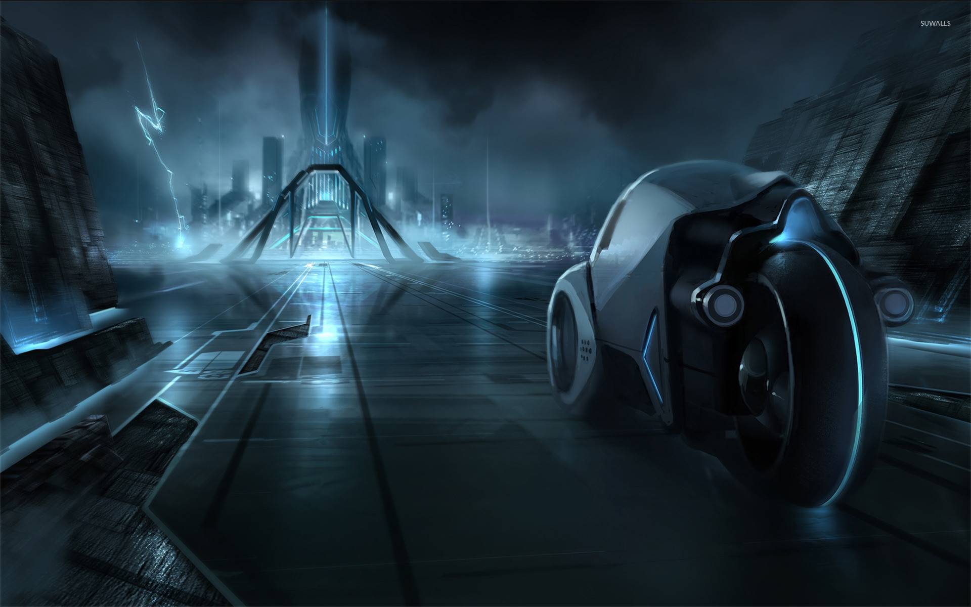 1920x1200 Tron Legacy Light Cycle HD desktop wallpaper High Definition