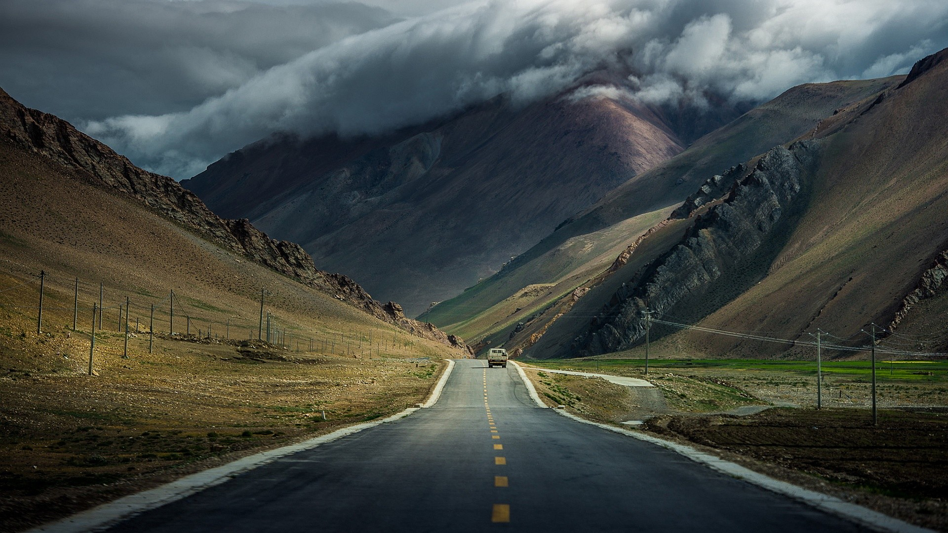 1920x1080 road-mountains-overcast-clouds-.jpg (1920×1080) · Hd  WallpaperWallpapersThe ...