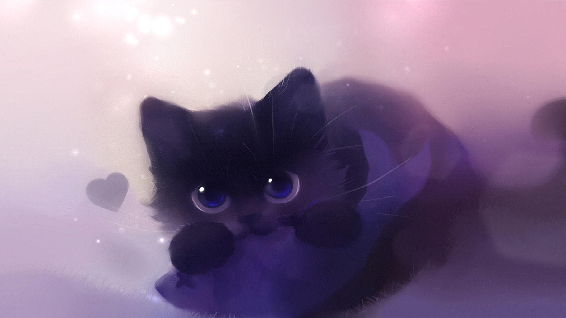1920x1080 pin Drawn kitten cat wallpaper #1