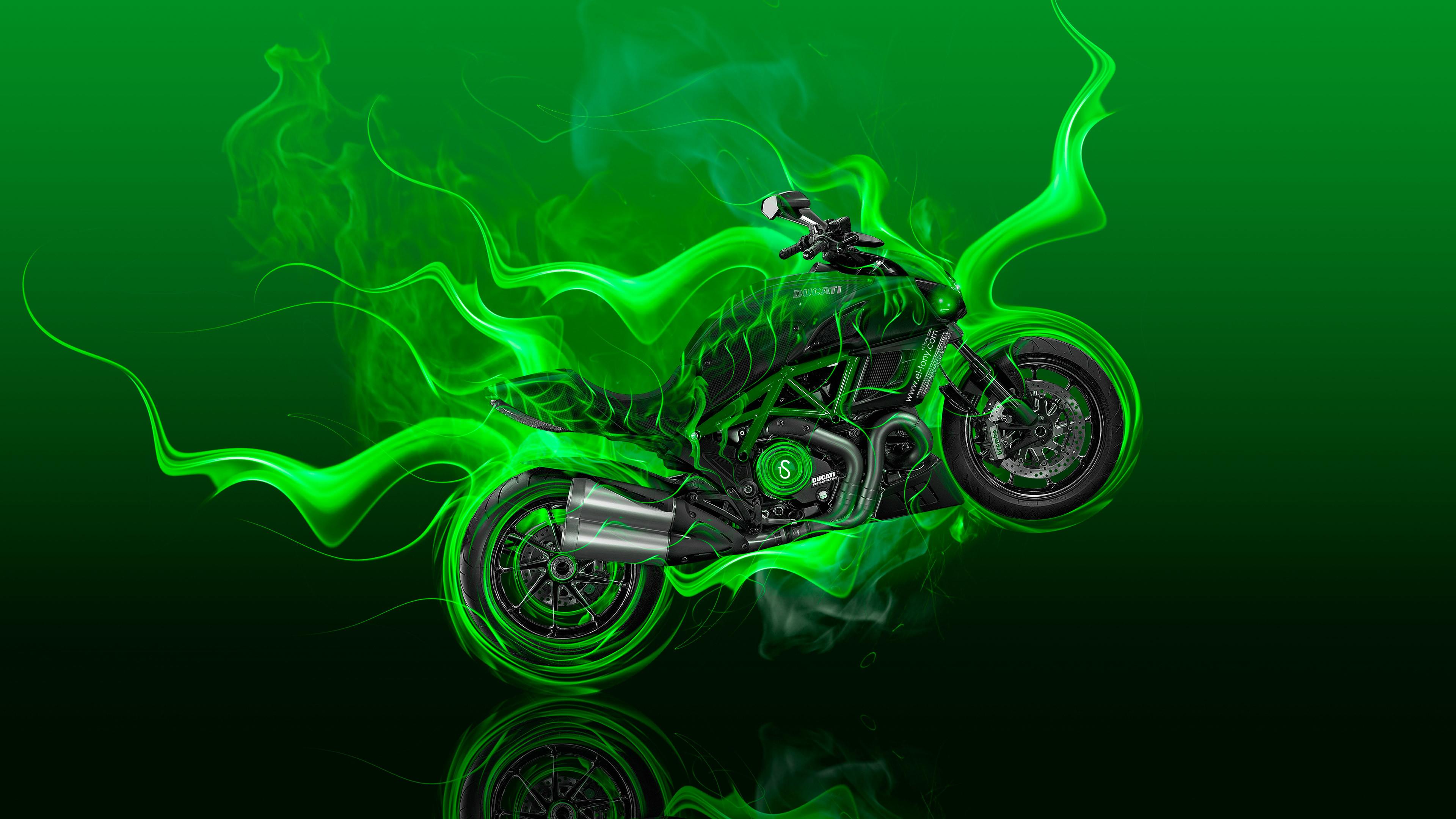 1799x2700 Download Bgreen Flame Skull B 240 X 320