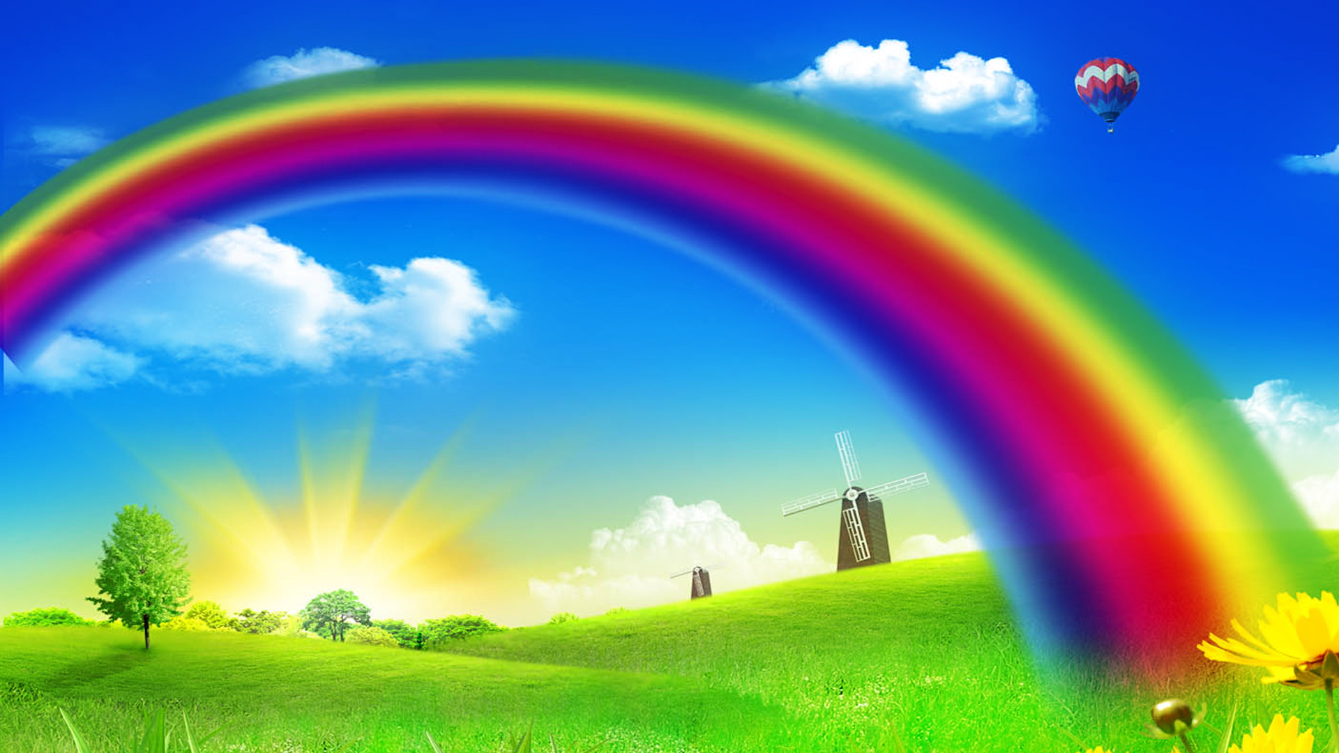 Rainbow Music Background Meaning Colorful Lines And Melody: Rainbow Color Wallpaper (71+ Images