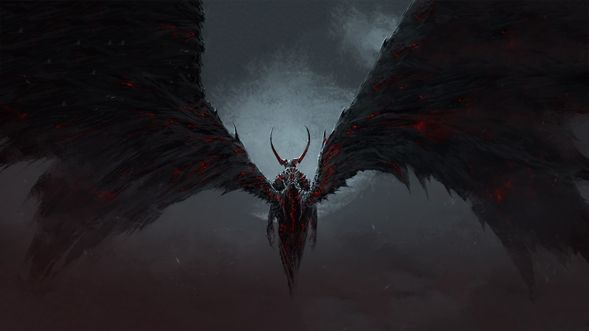 dark angel wings wallpaper