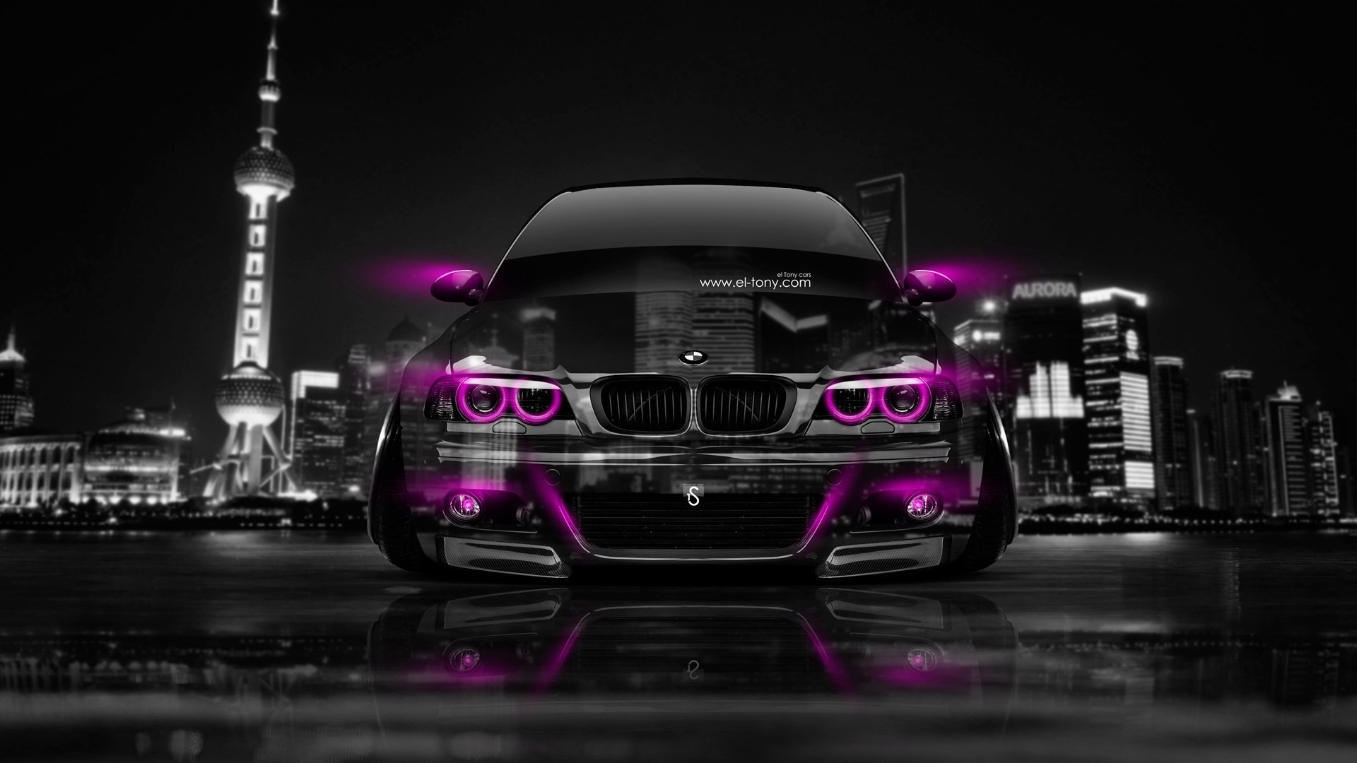 1920x1080 Bmw M3 E46 Front Crystal City Car 2014 El Tony Wallpaper
